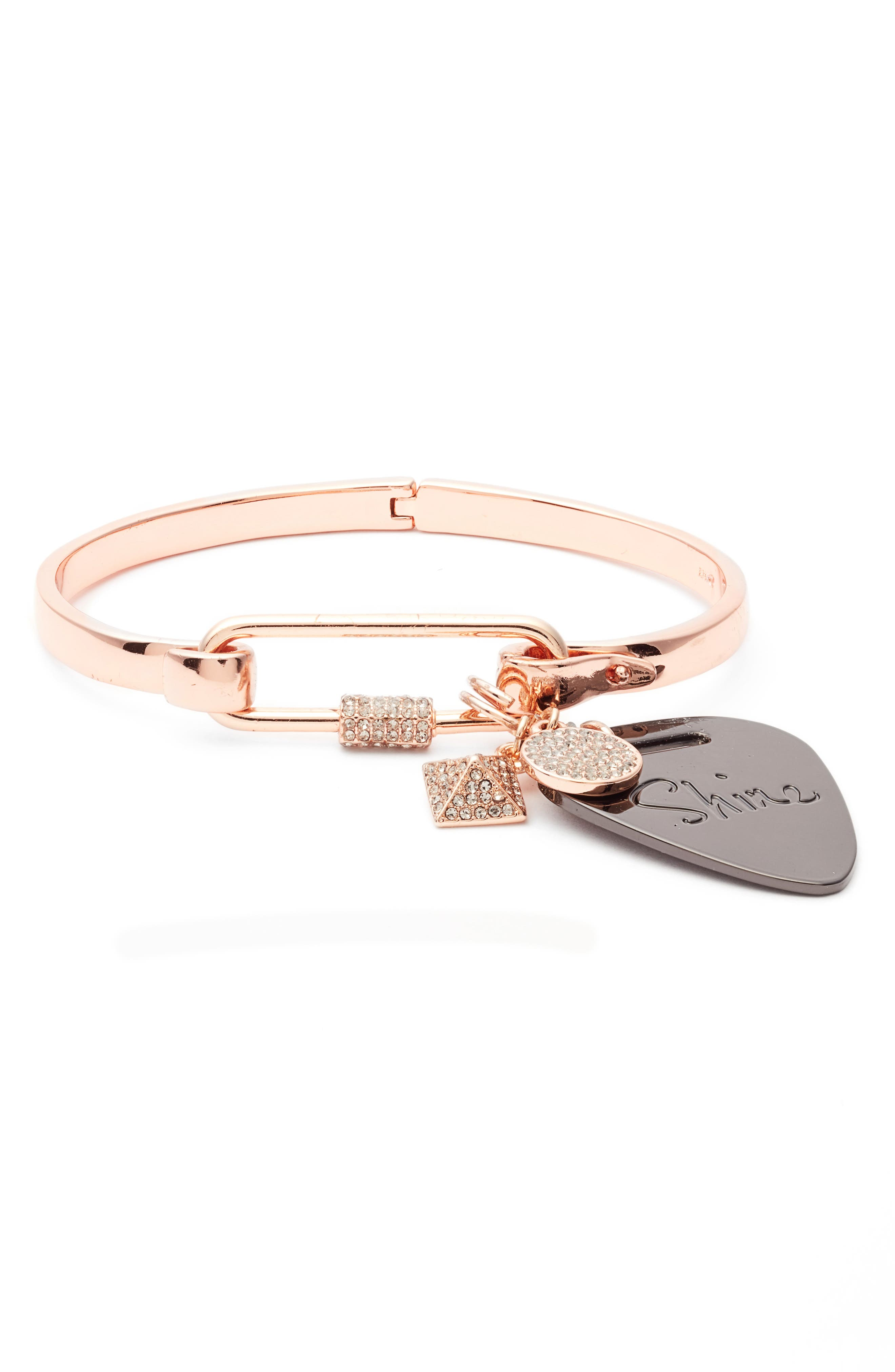 Rebecca Minkoff Guitar Pick Hinge Bracelet