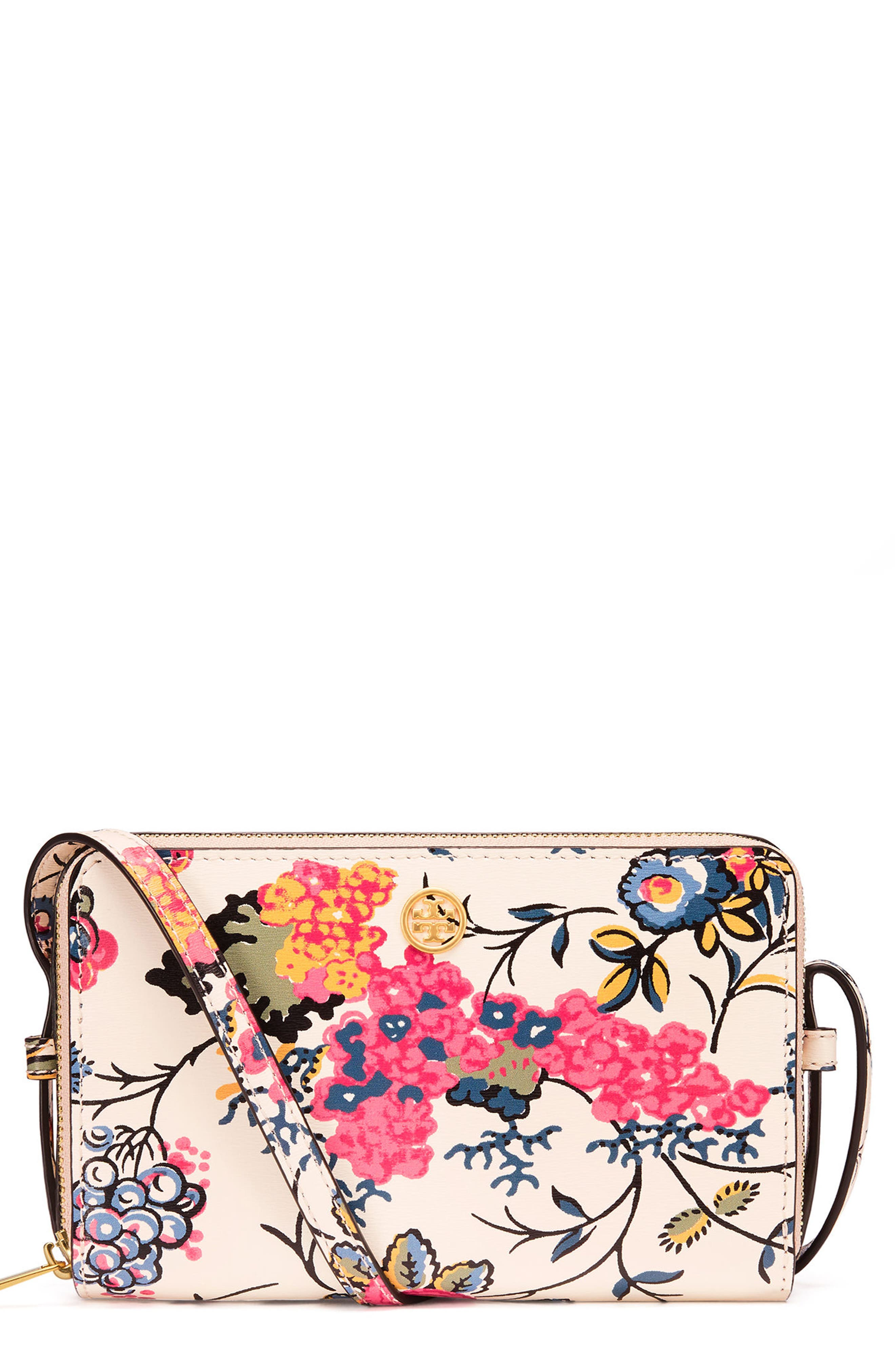Tory Burch Mini Parker Floral Crossbody Bag