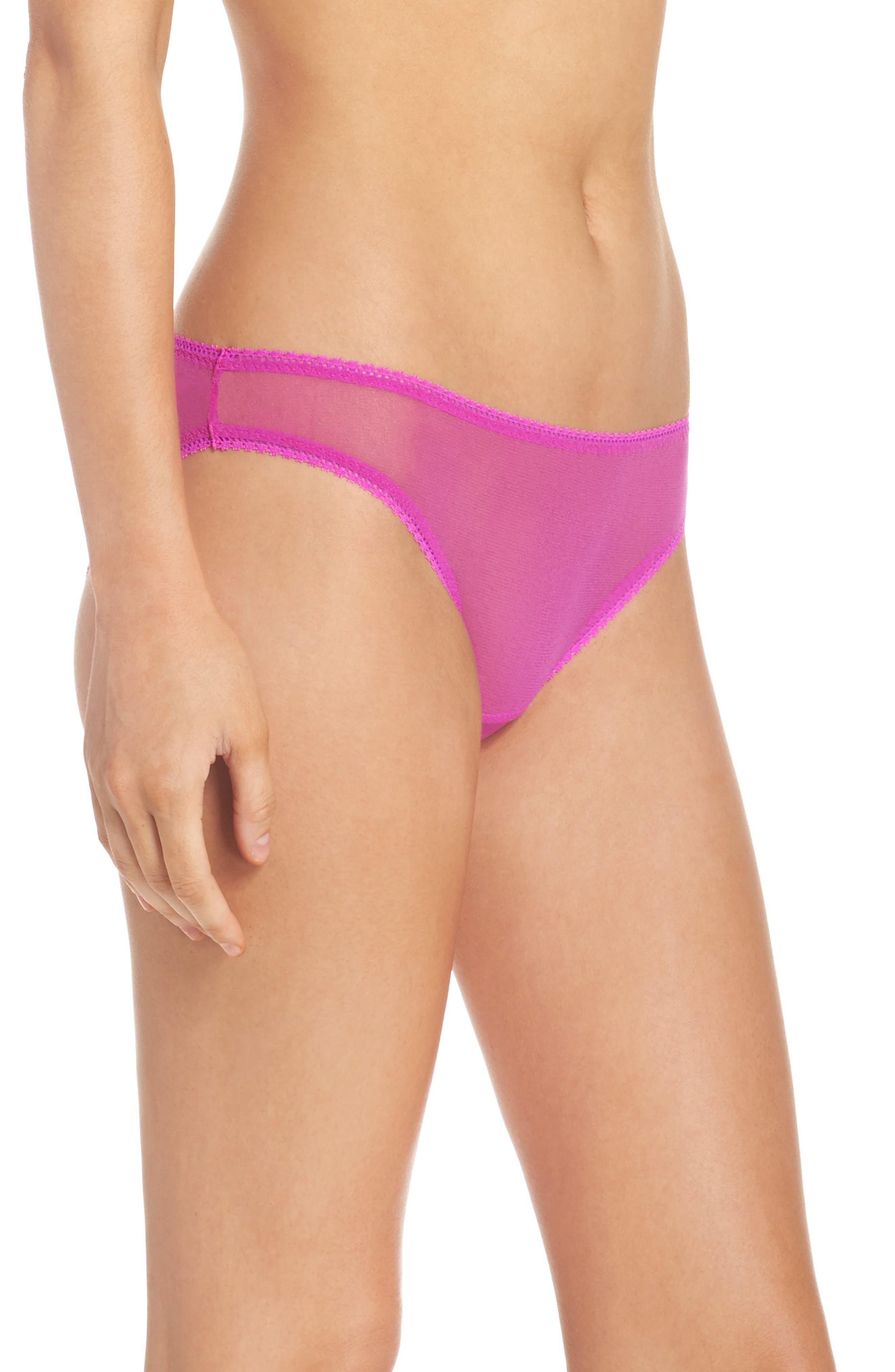 Alternate Image 3  - On Gossamer Mesh Bikini (3 for $45)