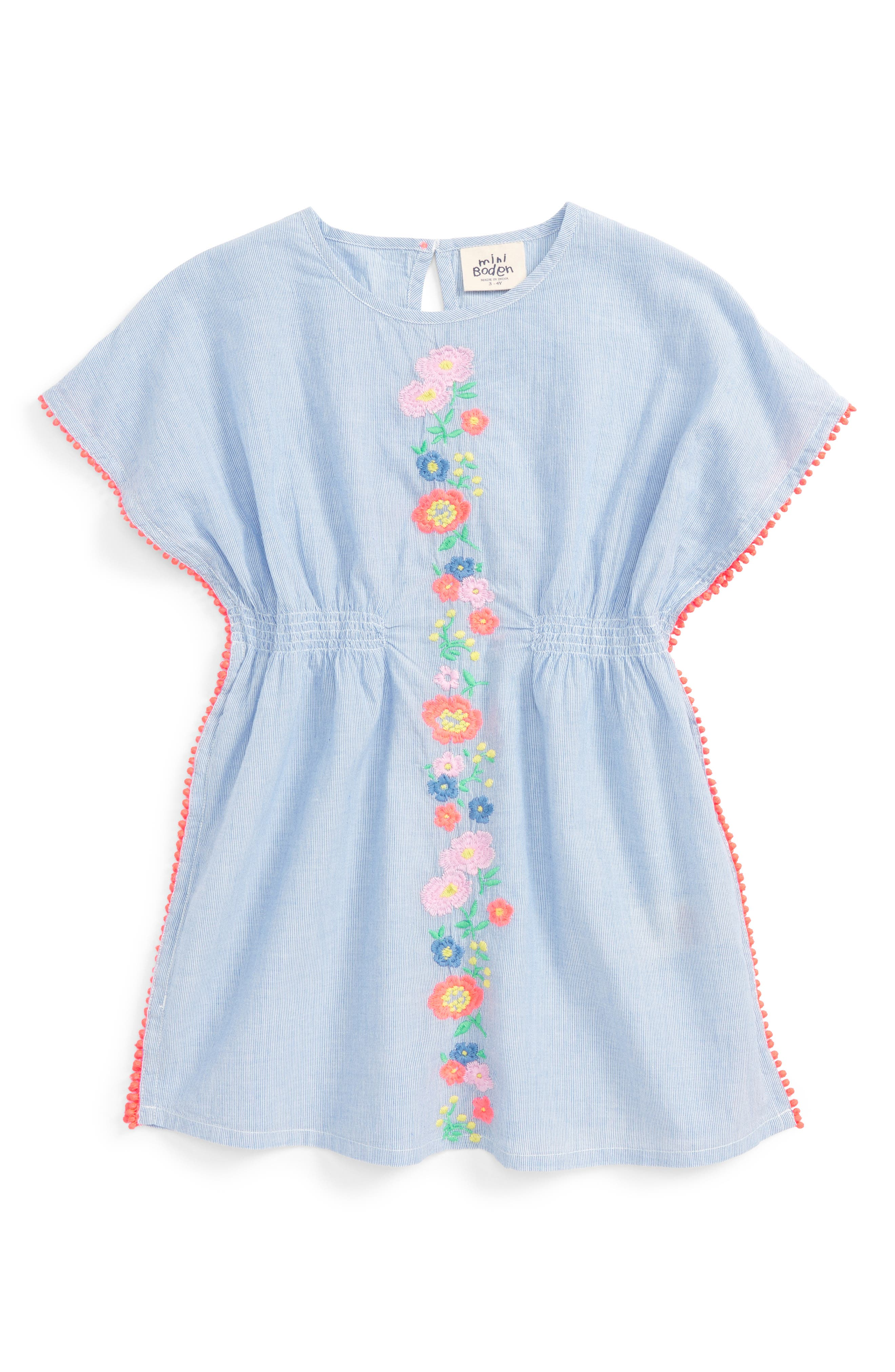 Mini Boden Drop 5 Embroidered Kaftan (Toddler Girls, Little Girls & Big Girls)