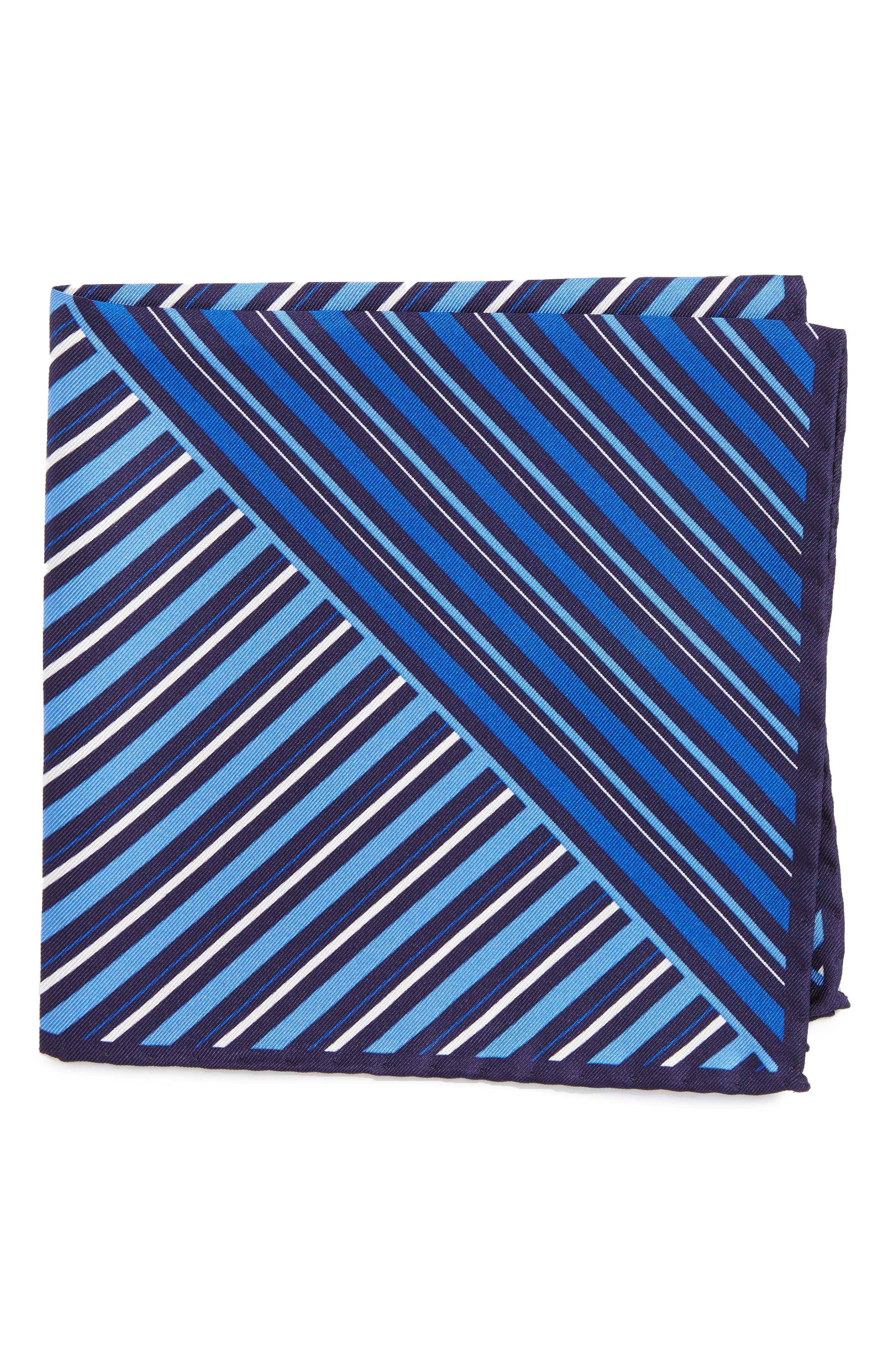 Eton Stripe Silk Pocket Square