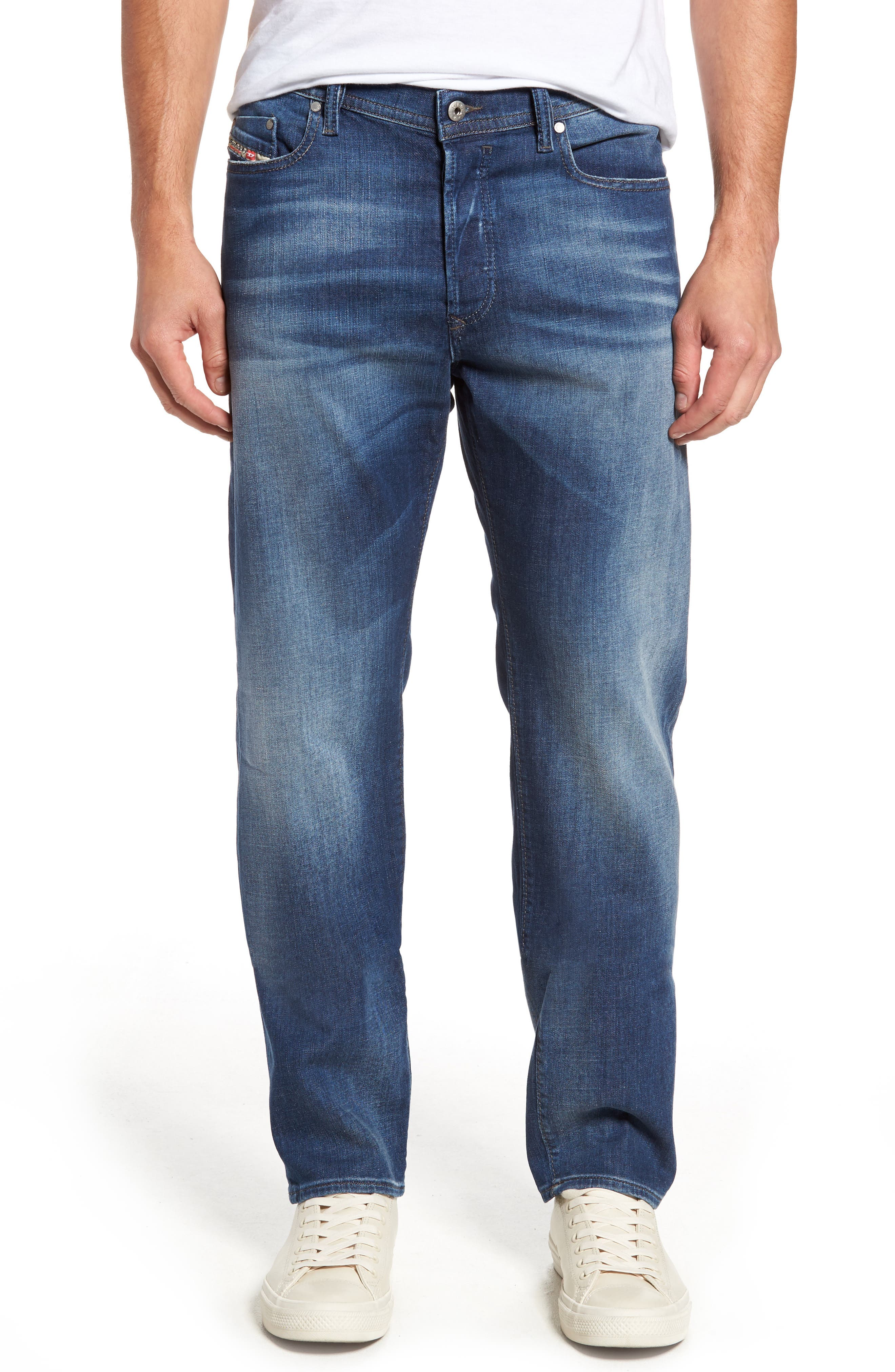 DIESEL® Thytan Straight Leg Jeans (084GR)
