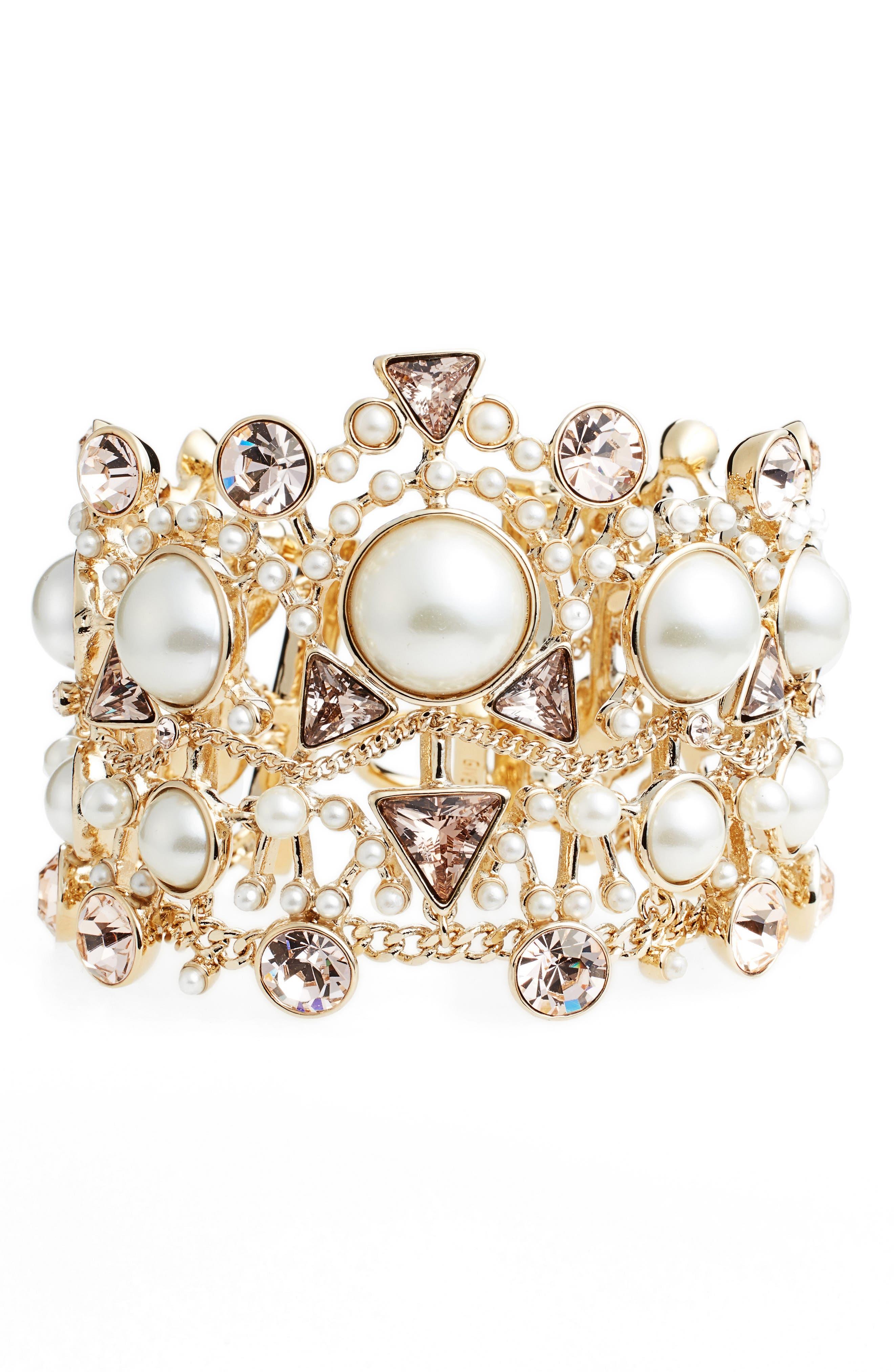Givenchy Chelsea Drama Crystal Flex Bracelet