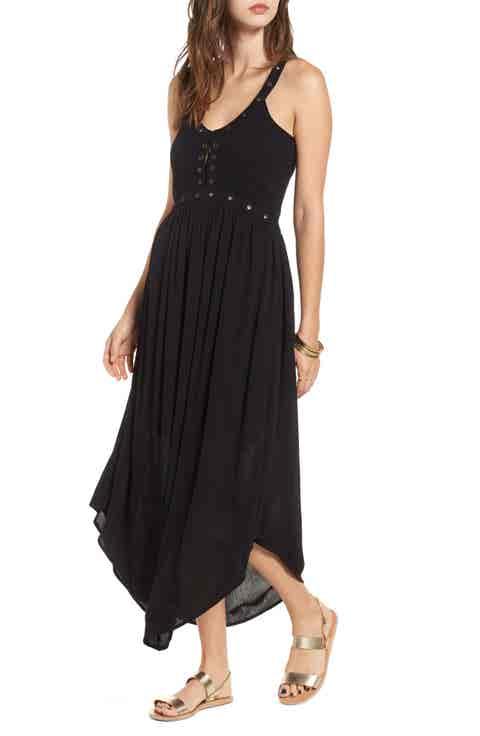 Sun   Shadow Grommet Detail Maxi Dress