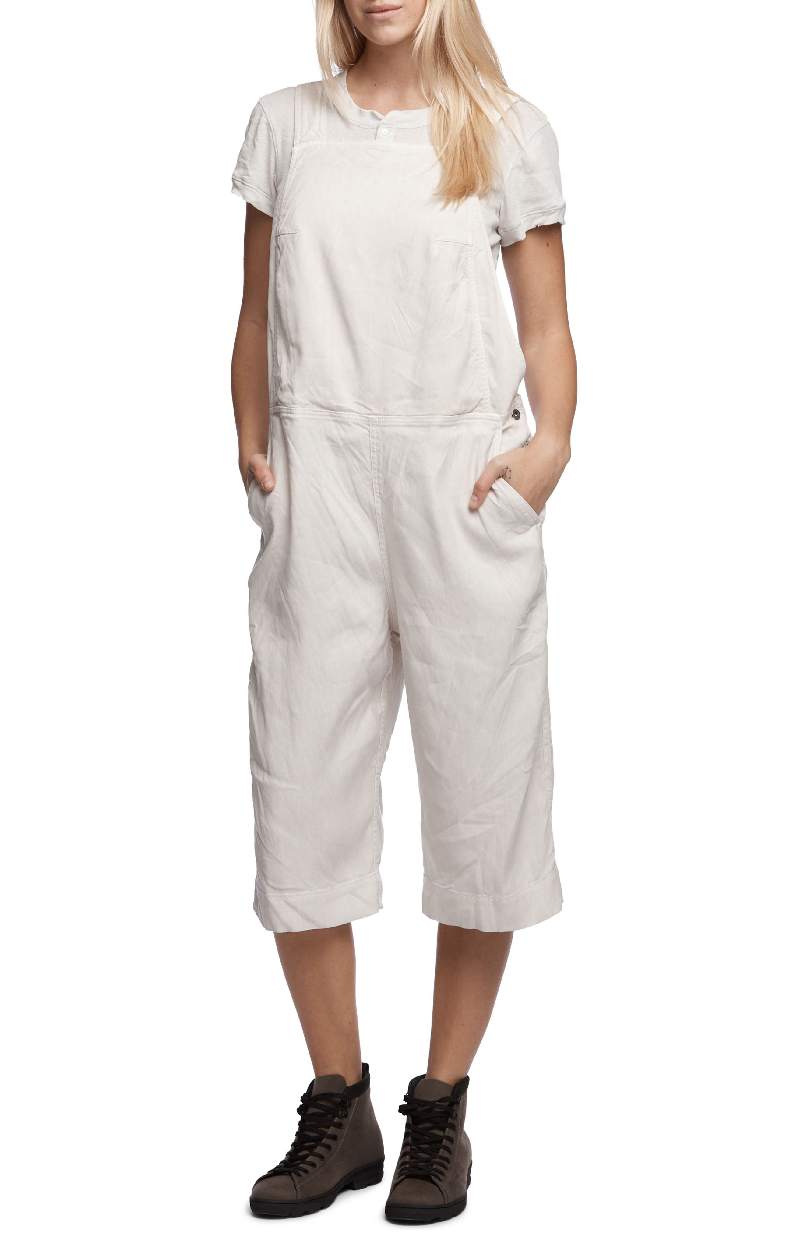 James Perse Crop Overall Jumpsuit
