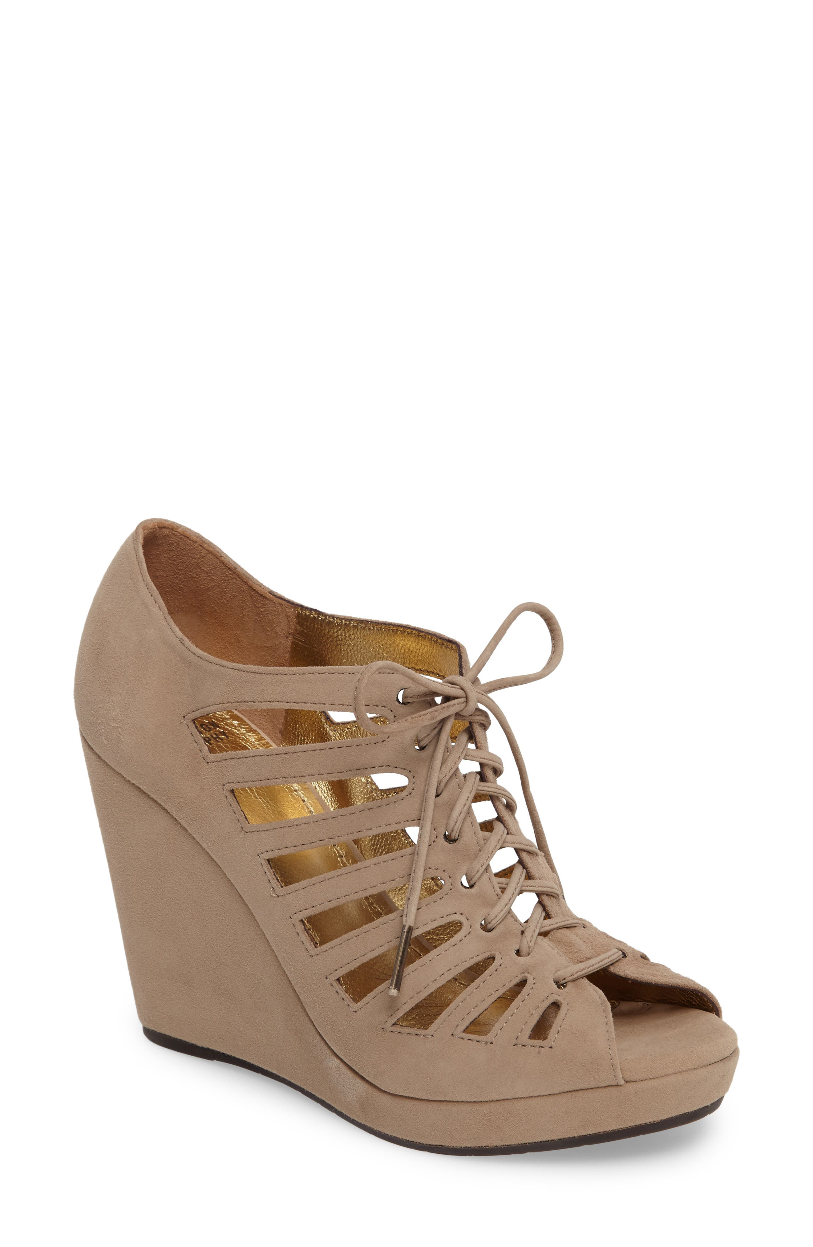 Johnston & Murphy Maddie Caged Wedge Sandal (Women)