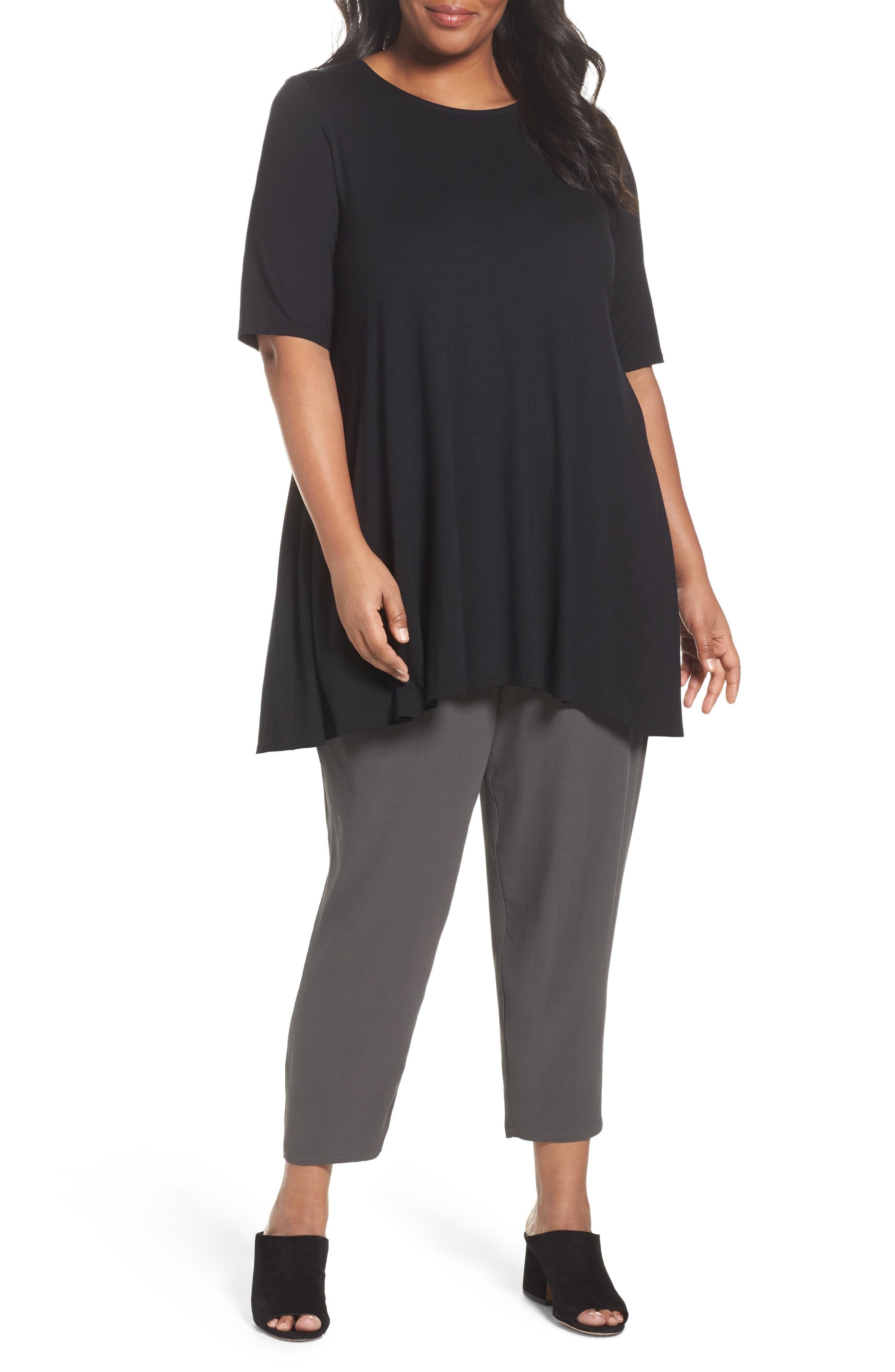 Eileen Fisher Jersey Tunic (Plus Size)