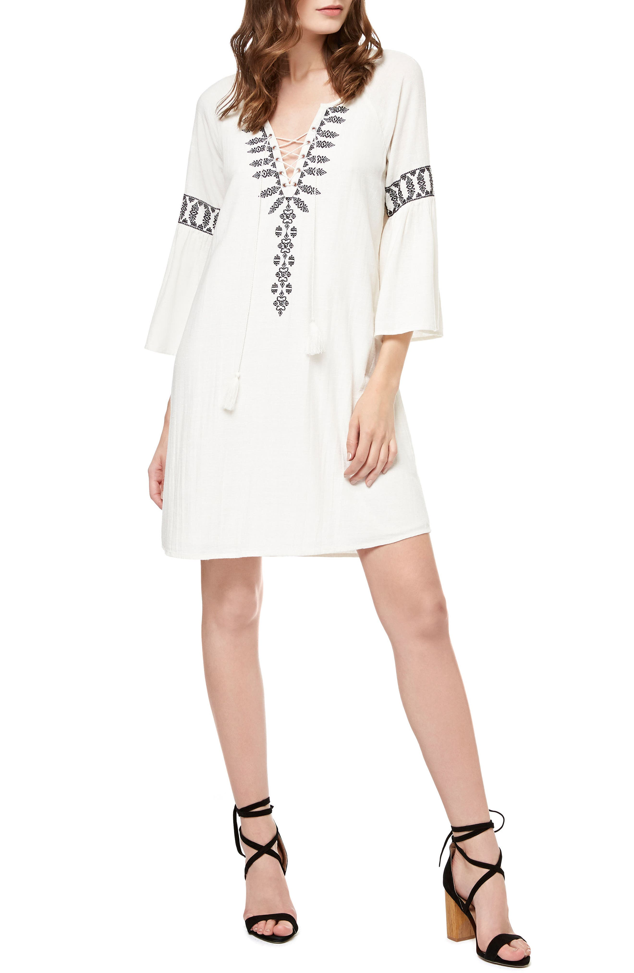 Sanctuary Lucie Embroidered Shift Dress