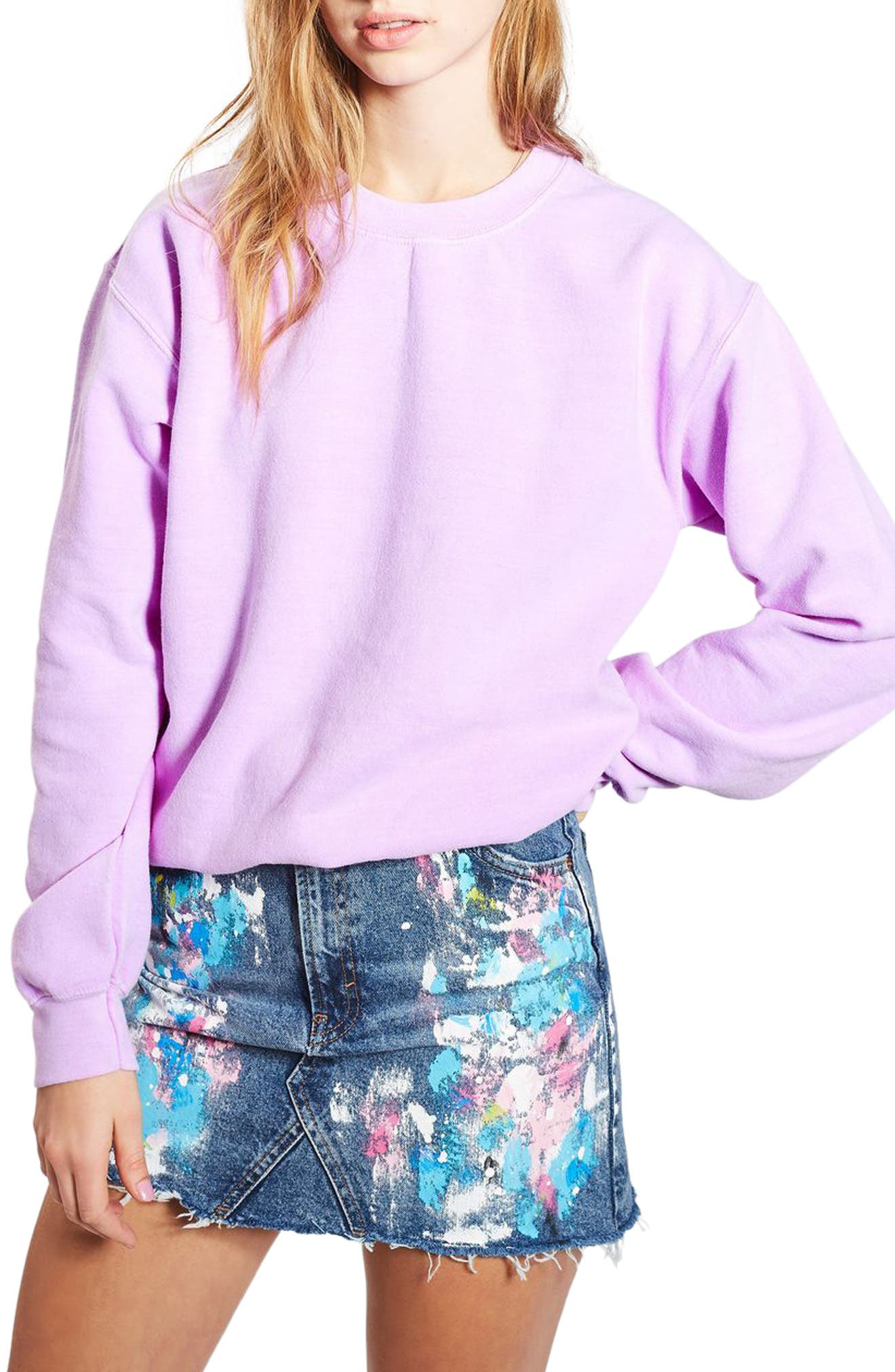 Topshop Fluorescent Sweatshirt