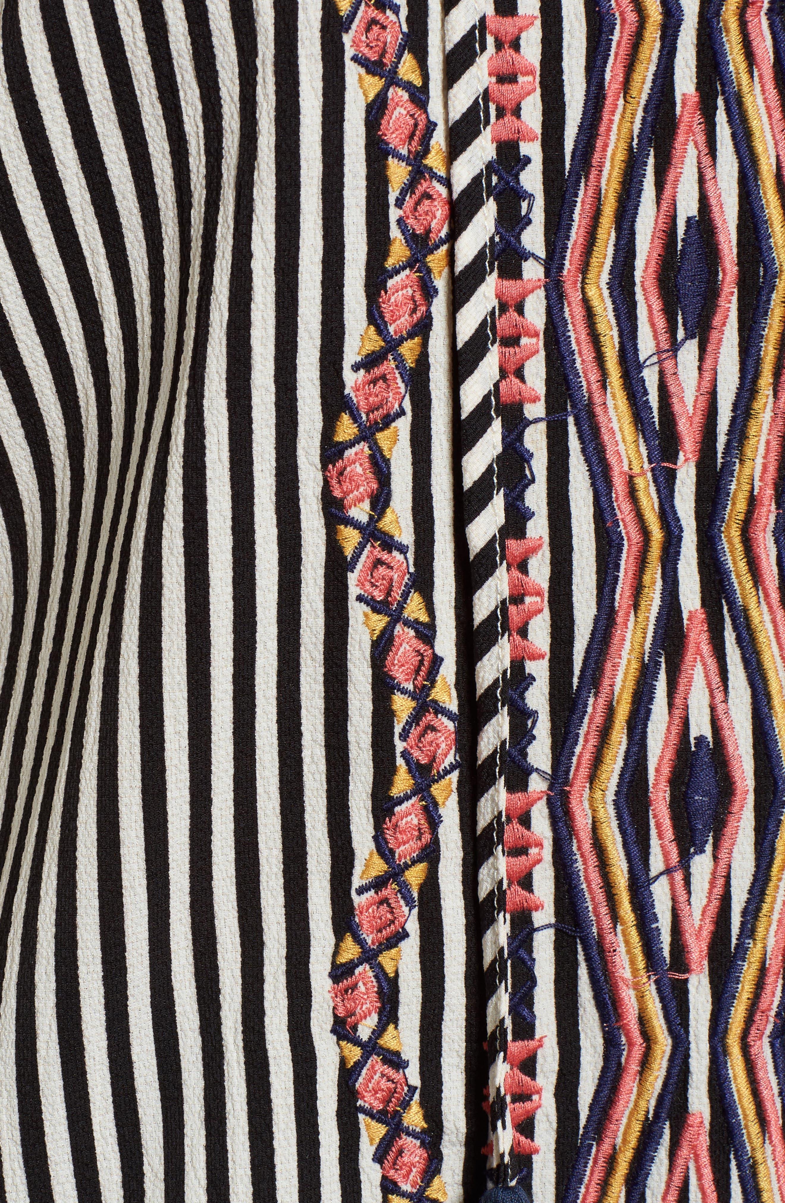Alternate Image 5  - THML Tassel Tie Stripe Top