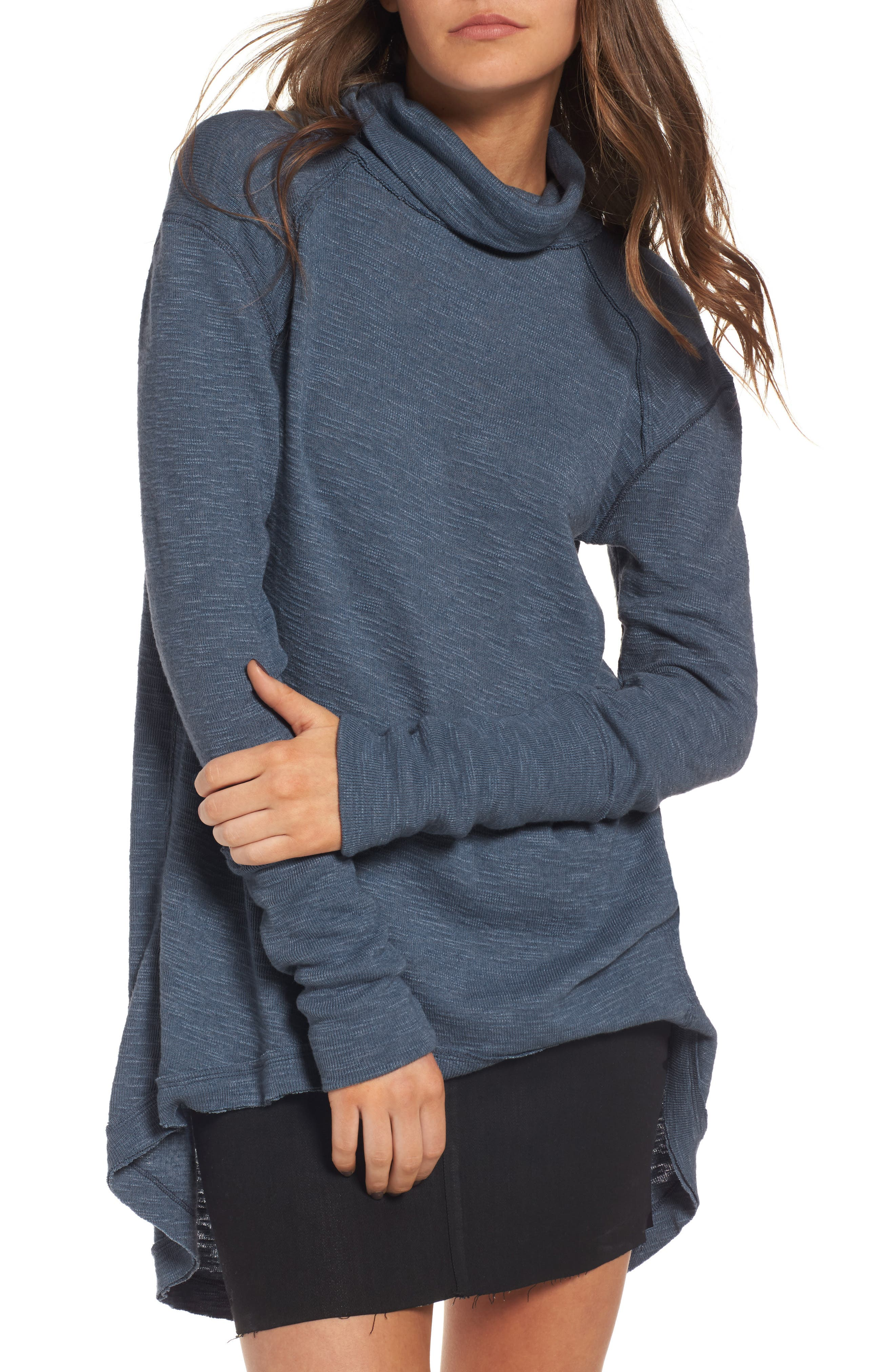 Main Image - Free People Split Back Turtleneck