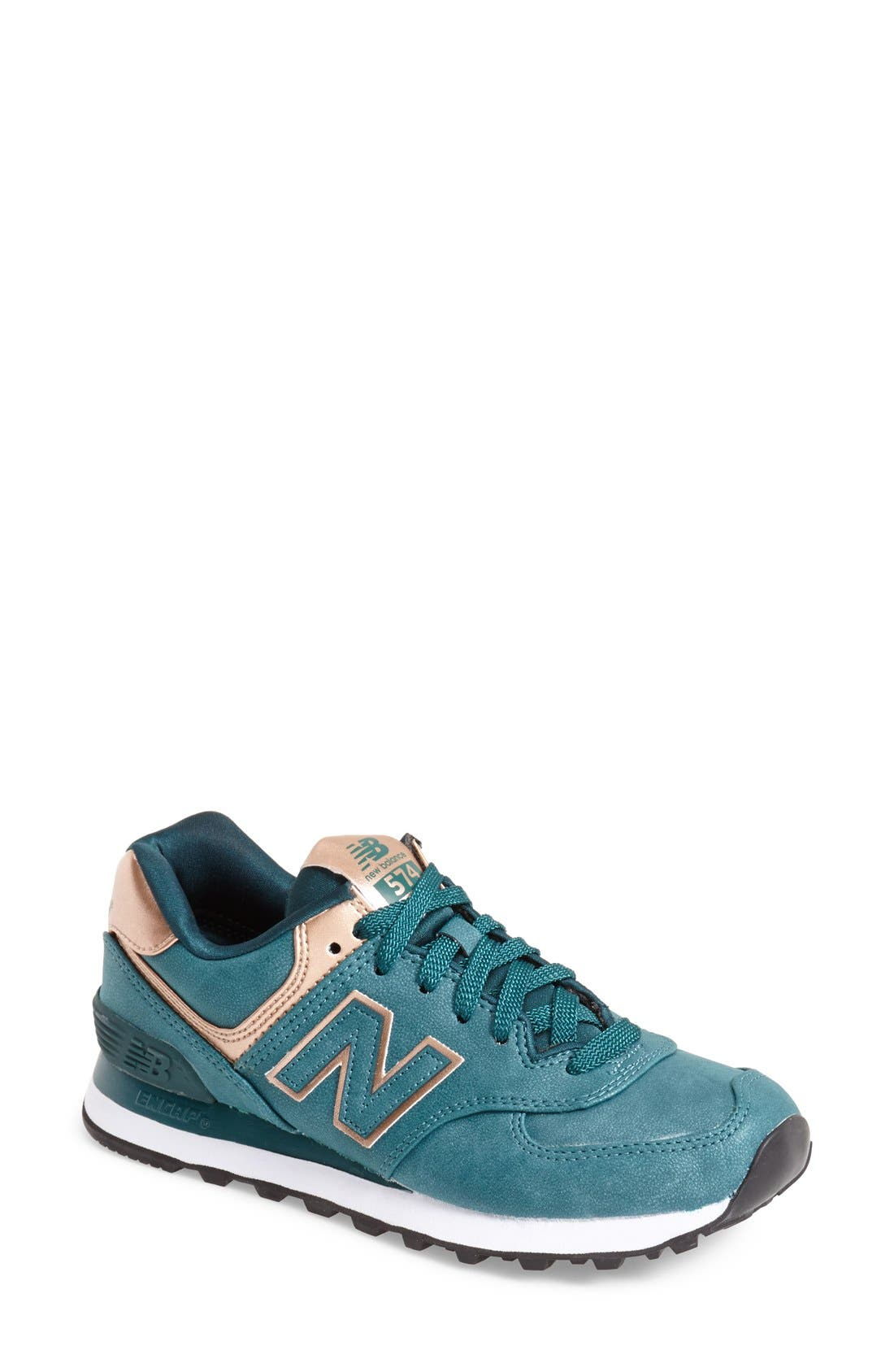 Alternate Image 1 Selected - New Balance '574 - Precious Metals' Sneaker (Women)