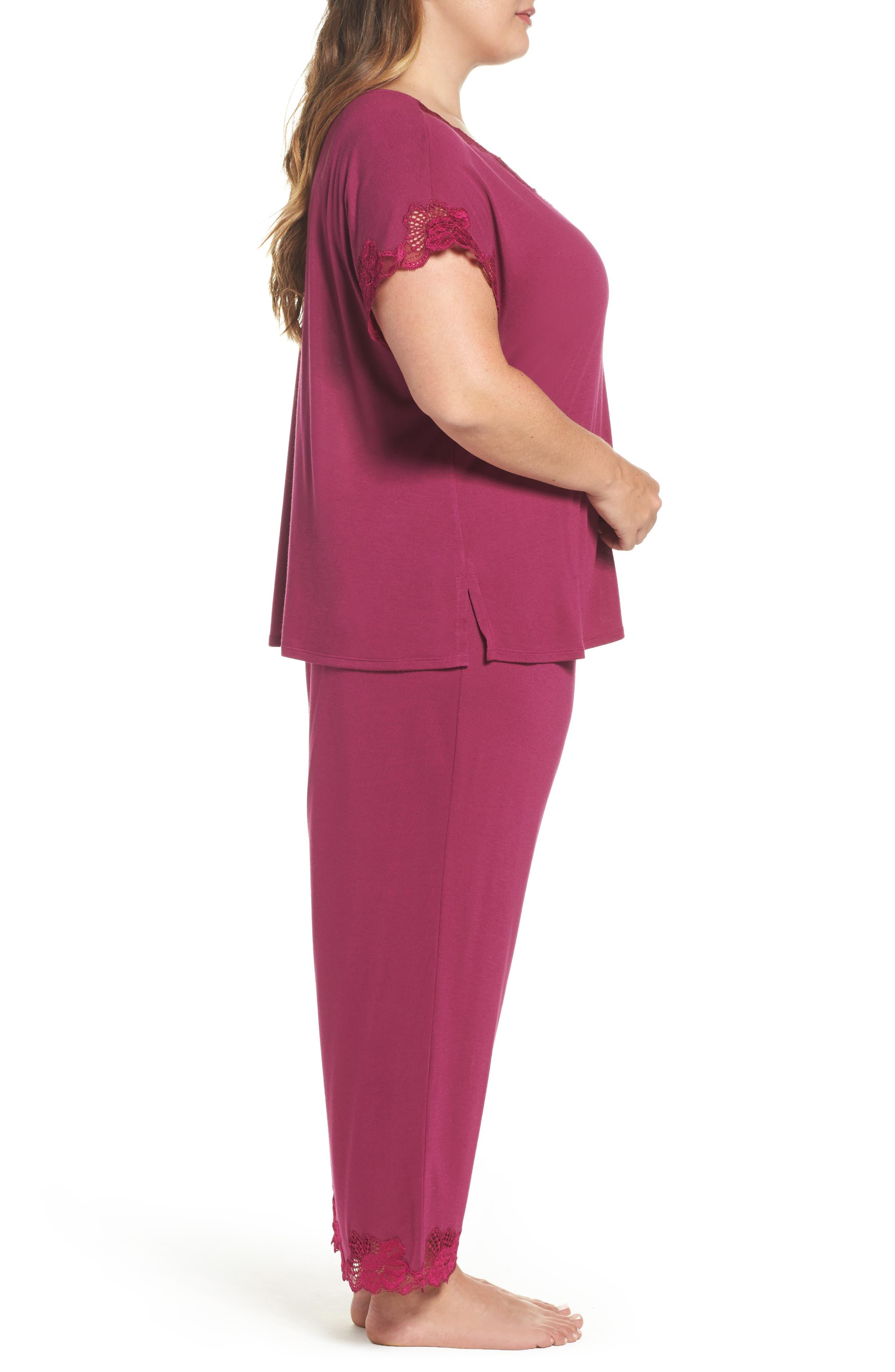 Alternate Image 3  - Natori 'Zen Floral' Pajamas (Plus Size)