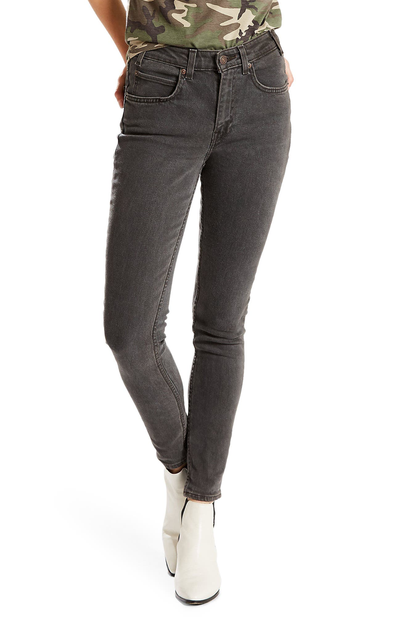 Levi's® Orange Tab 721 High Waist Skinny Jeans (Black Widow)