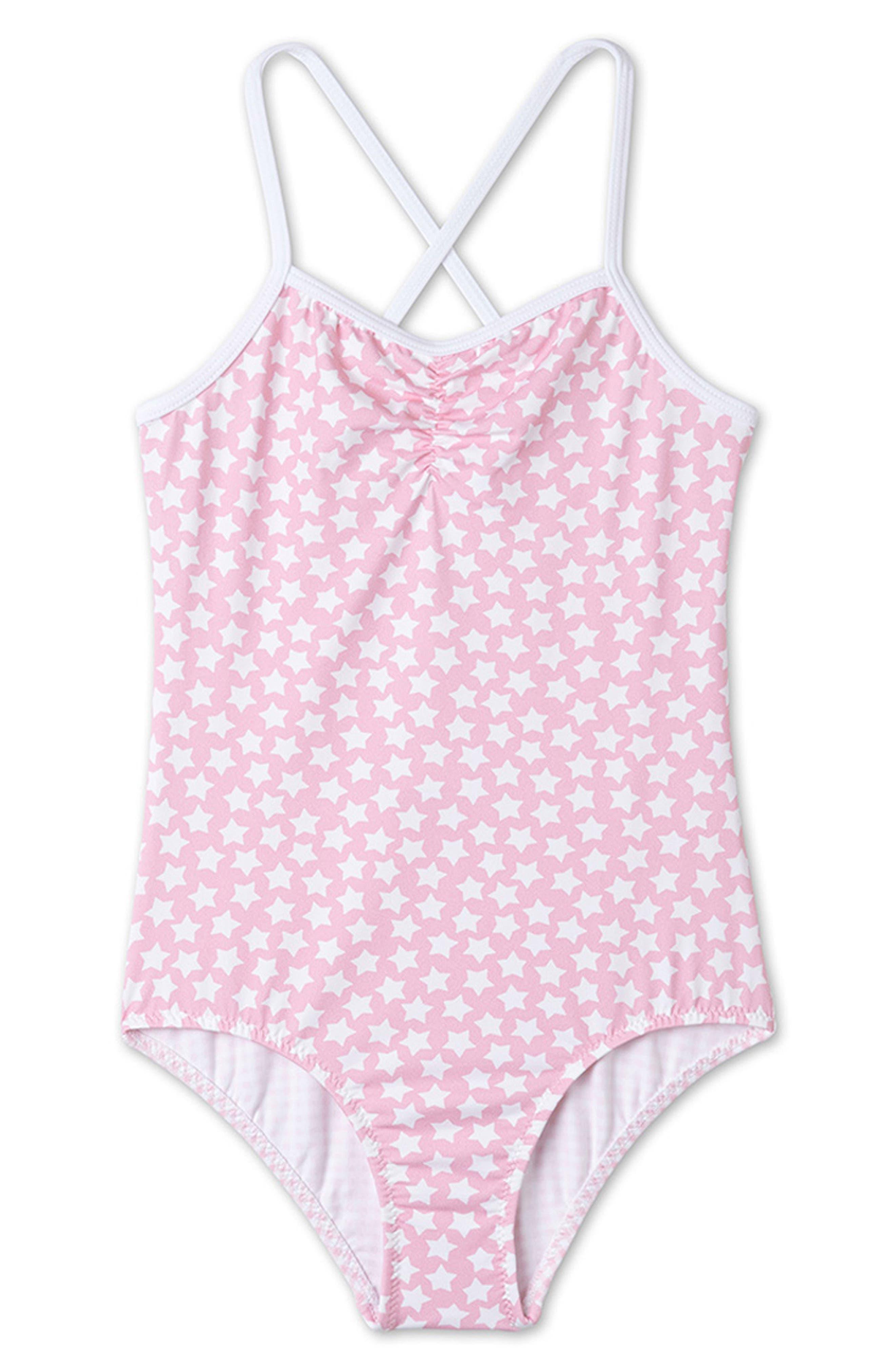 Stella Cove Star Print One-Piece Swimsuit (Big Girls)