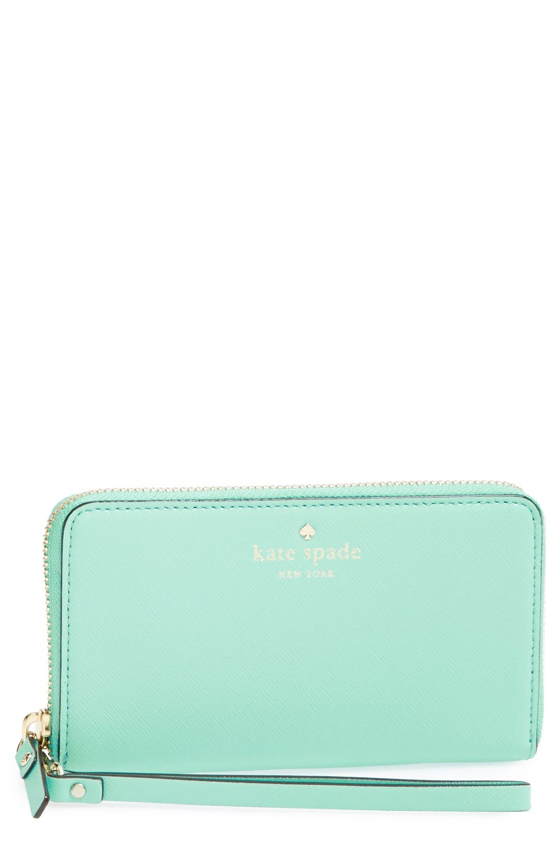 Main Image - kate spade new york 'cedar street - jordie' zip around leather wallet