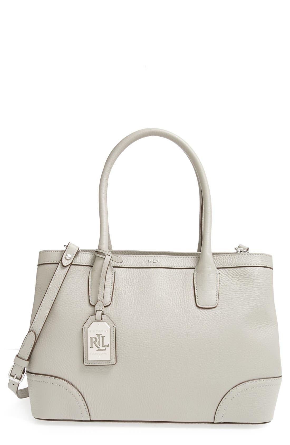 Alternate Image 1 Selected - Lauren Ralph Lauren Leather Shopper