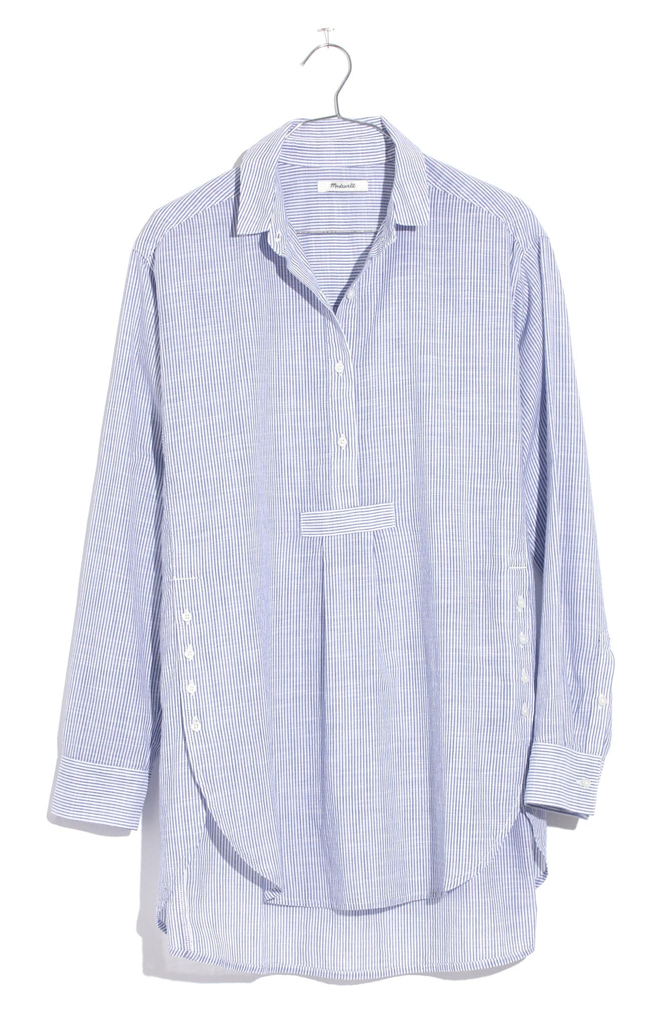 Madewell Stripe Side Button Popover Shirt