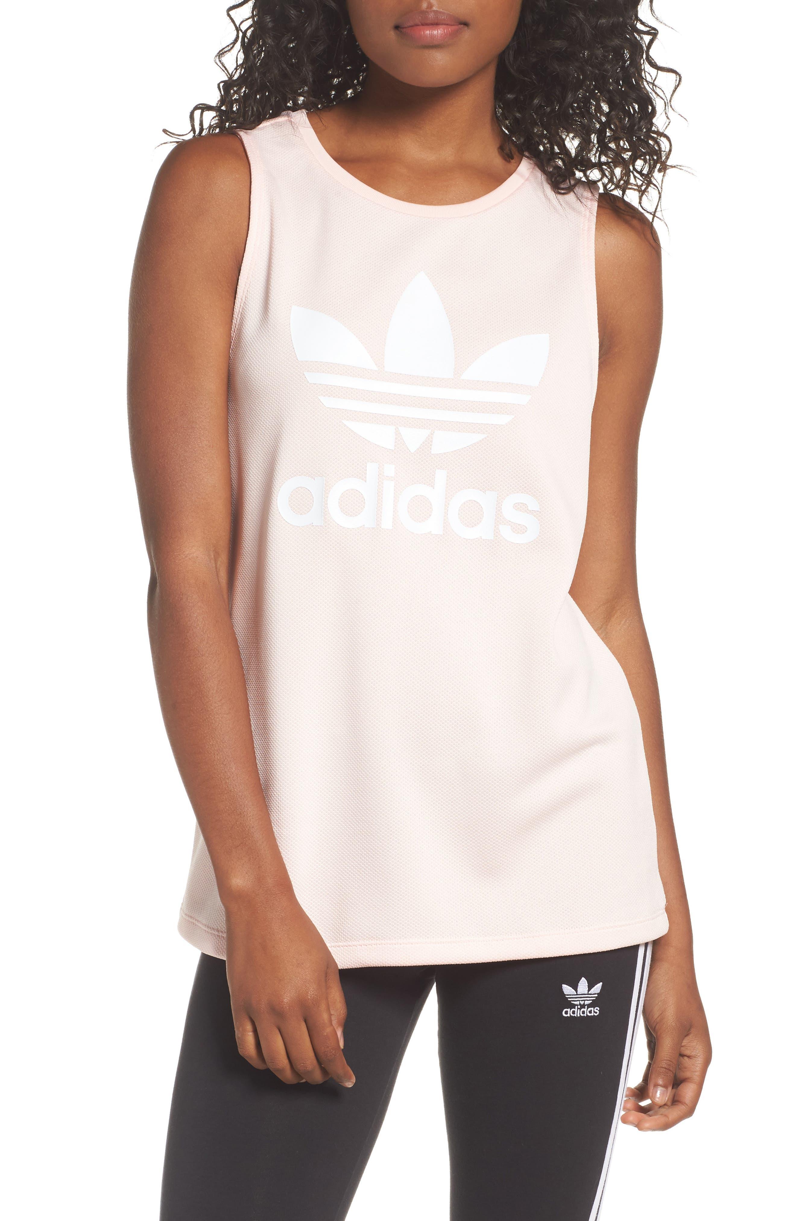 adidas Loose Fit Trefoil Logo Tank