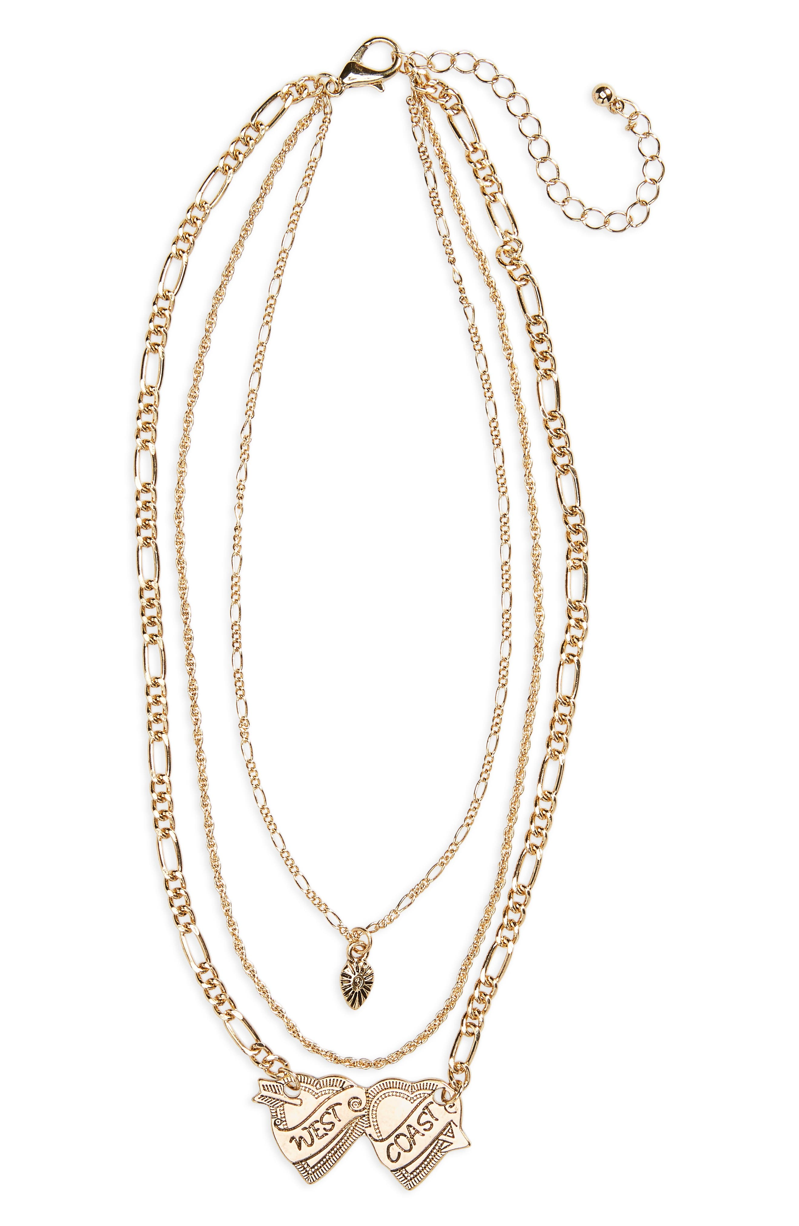BP. West Coast Layered Pendant Necklace
