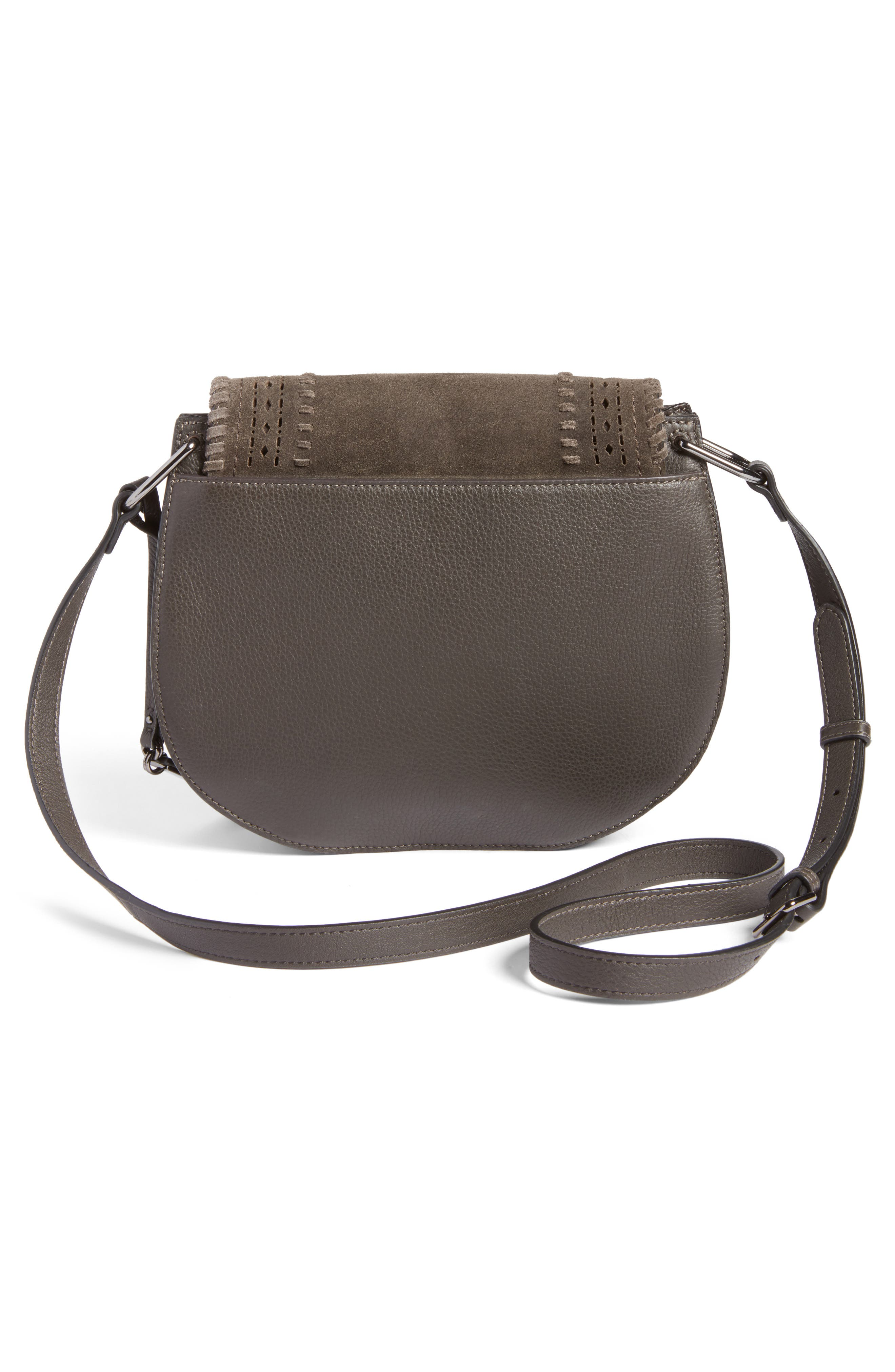 Alternate Image 3  - Vince Camuto Kirie Suede & Leather Crossbody Saddle Bag (Nordstrom Exclusive)