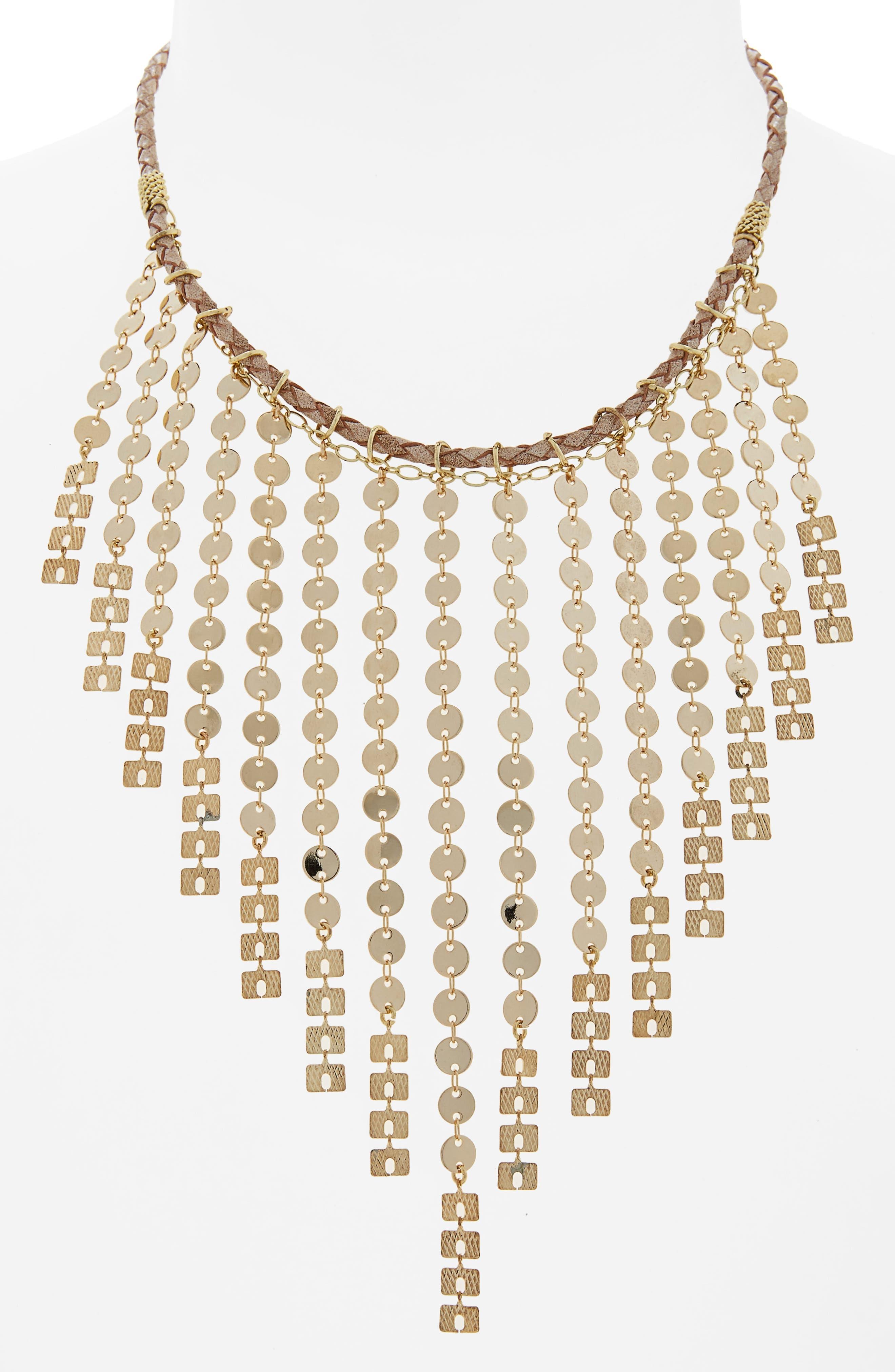 Nakamol Design Fringe Bib Necklace