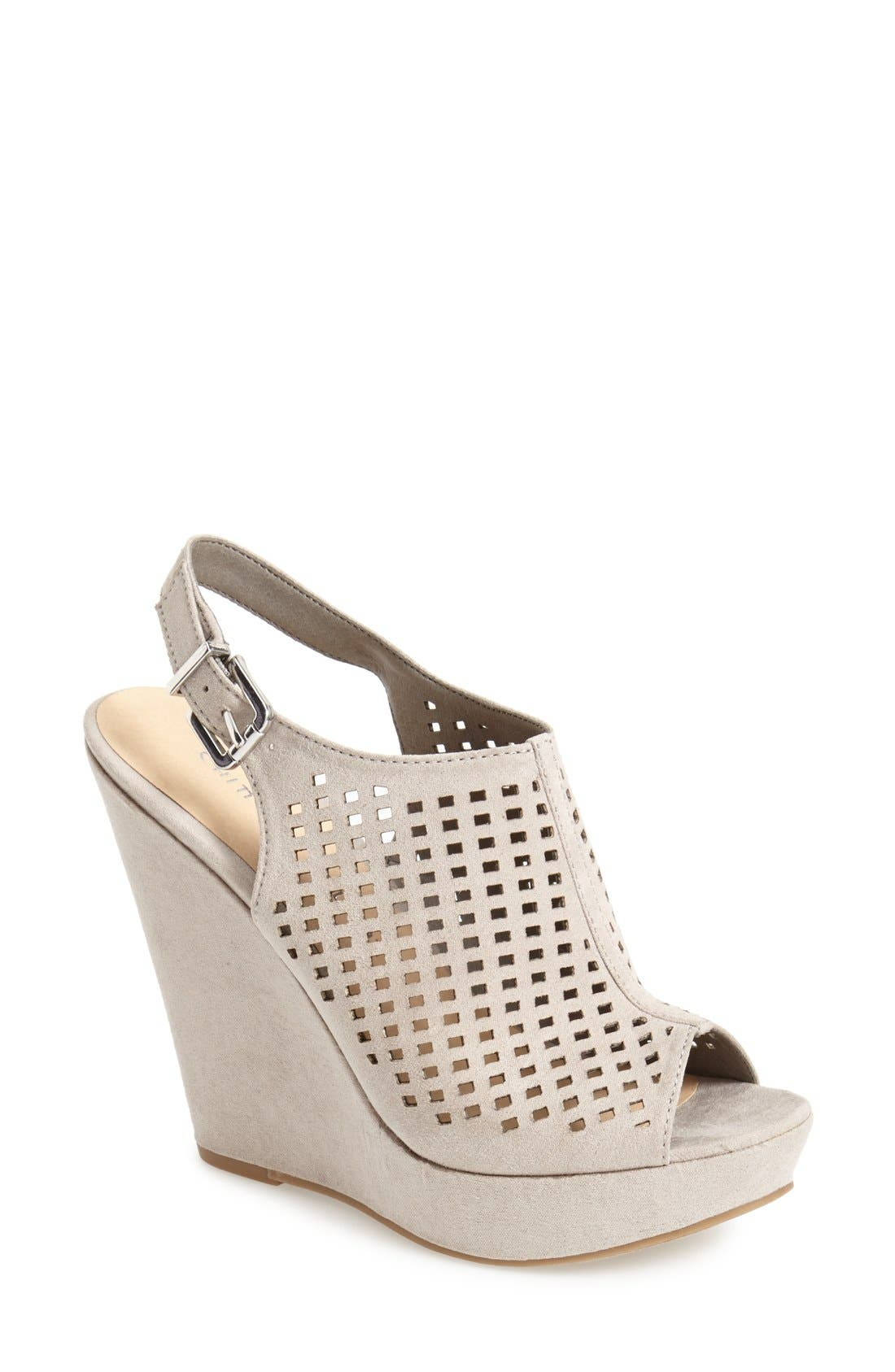 Alternate Image 1 Selected - Chinese Laundry 'Meet Up' Slingback Wedge Peep Toe Sandal (Women)