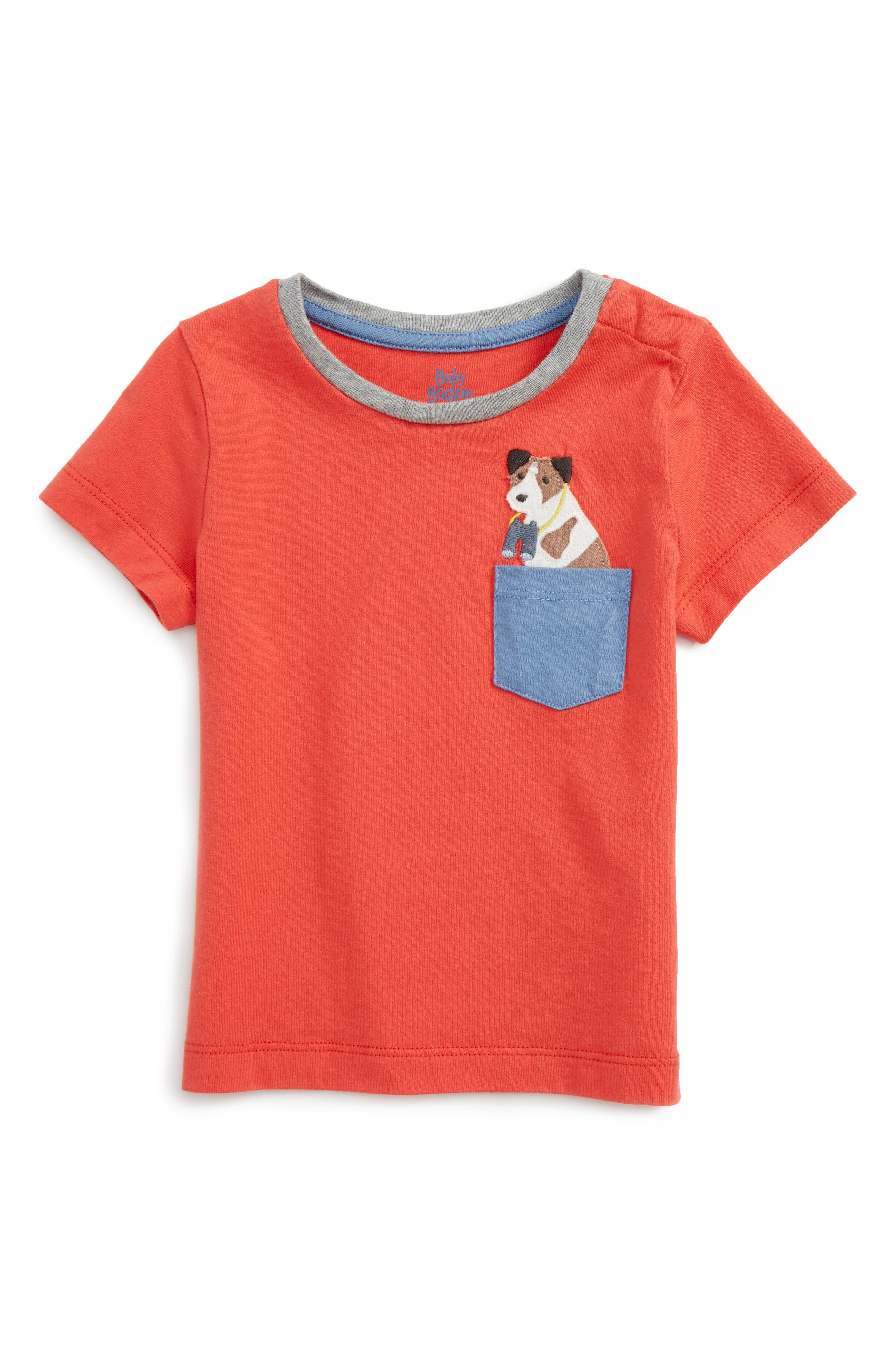 Mini Boden Fun Pocket T-Shirt (Baby & Toddler)