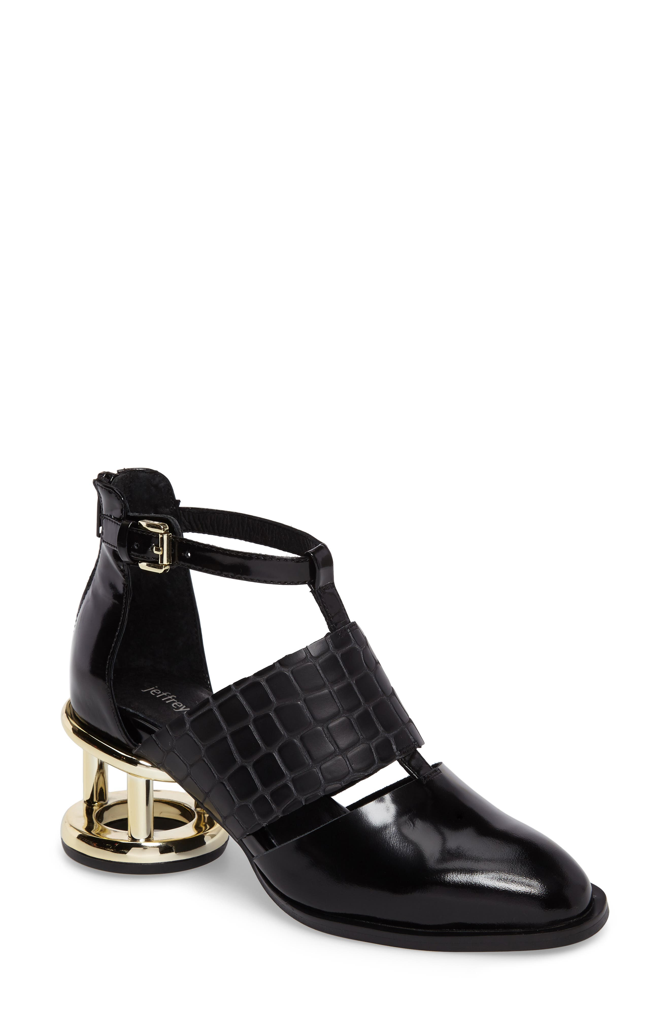 Jeffrey Campbell Melina Cage Heel Bootie (Women)