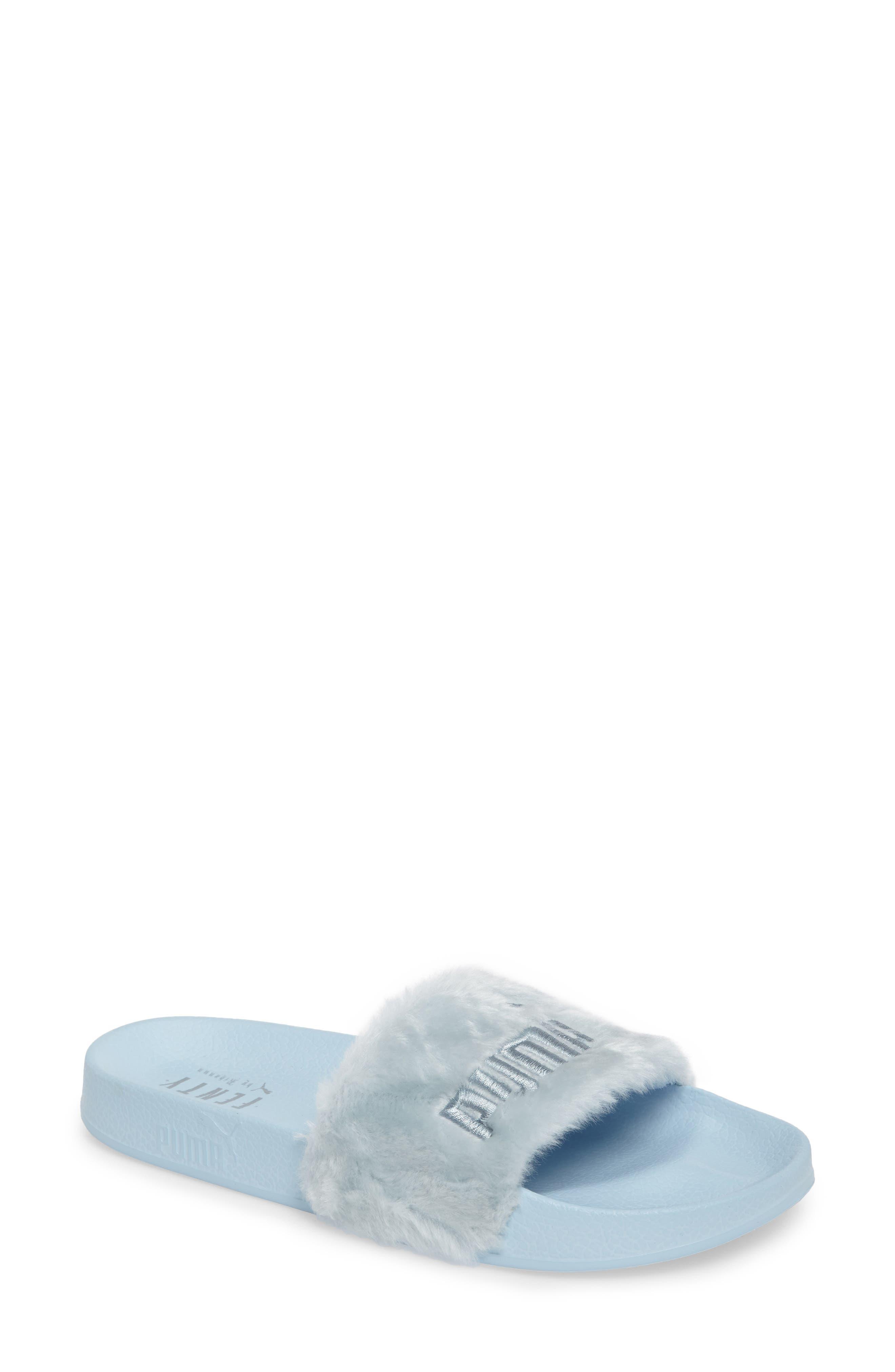 FENTY PUMA by Rihanna 'Leadcat Fenty' Faux Fur Slide Sandal (Women)
