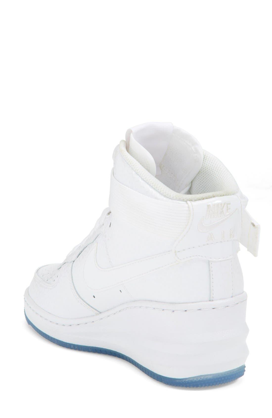 Alternate Image 2  - Nike 'Lunar Force 1 Sky Hi' Sneaker (Women)