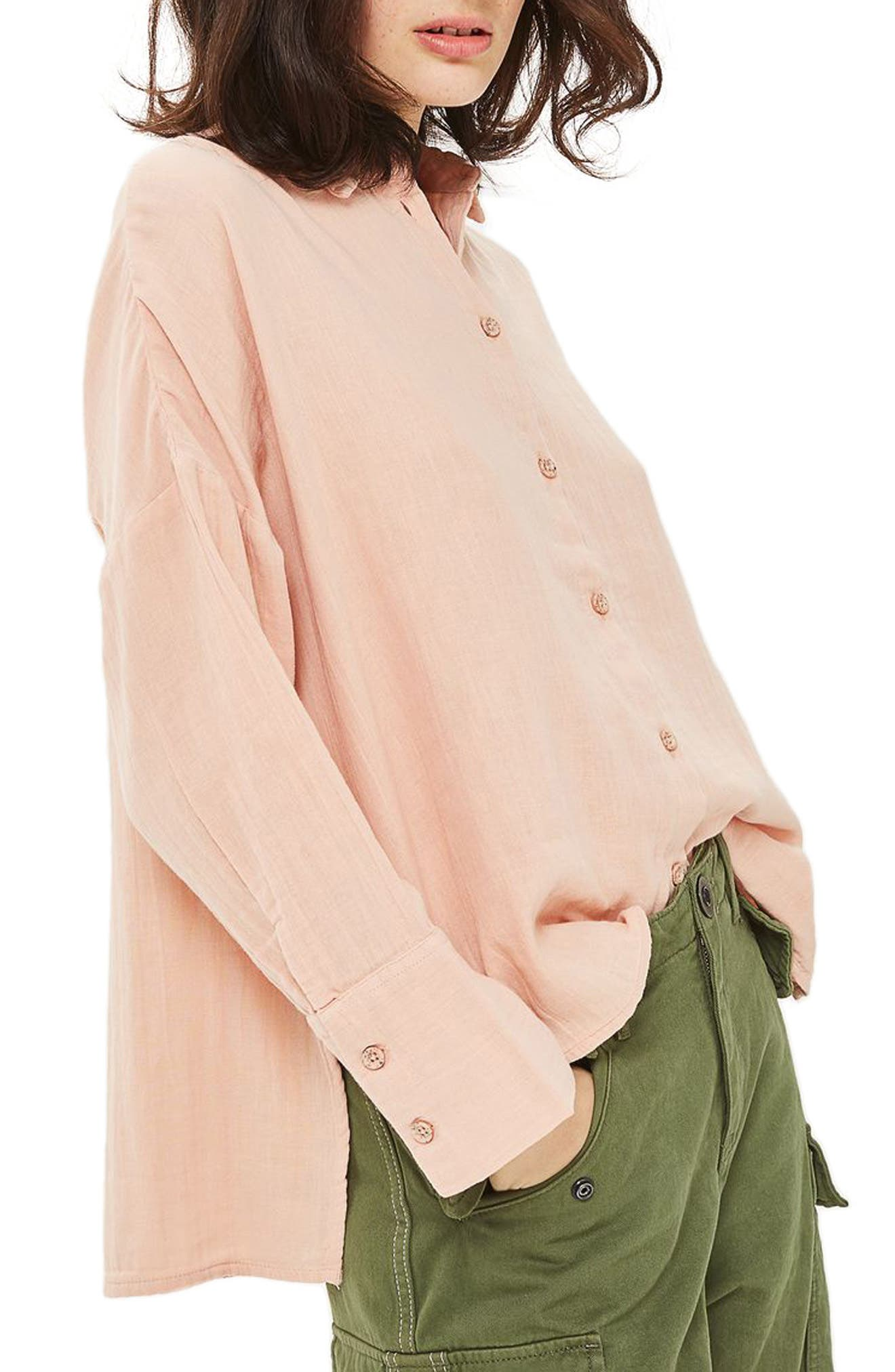 Topshop Crinkle Shirt
