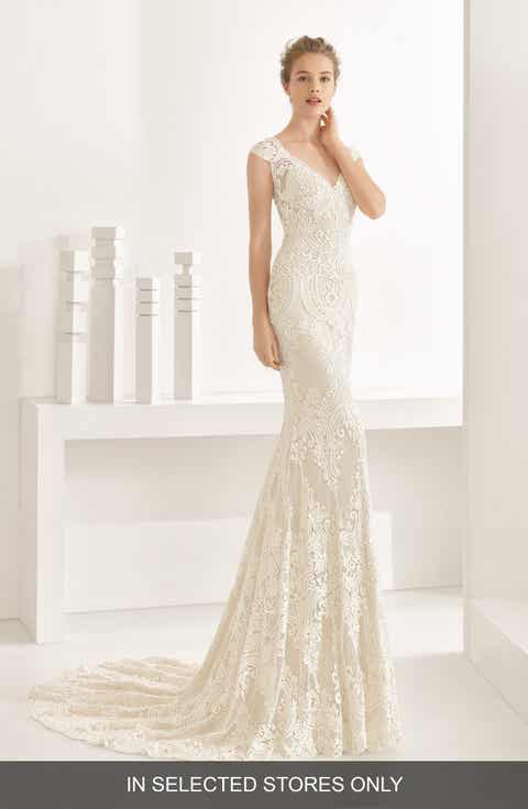 rosa clara natalia guipure lace mermaid gown in stores only