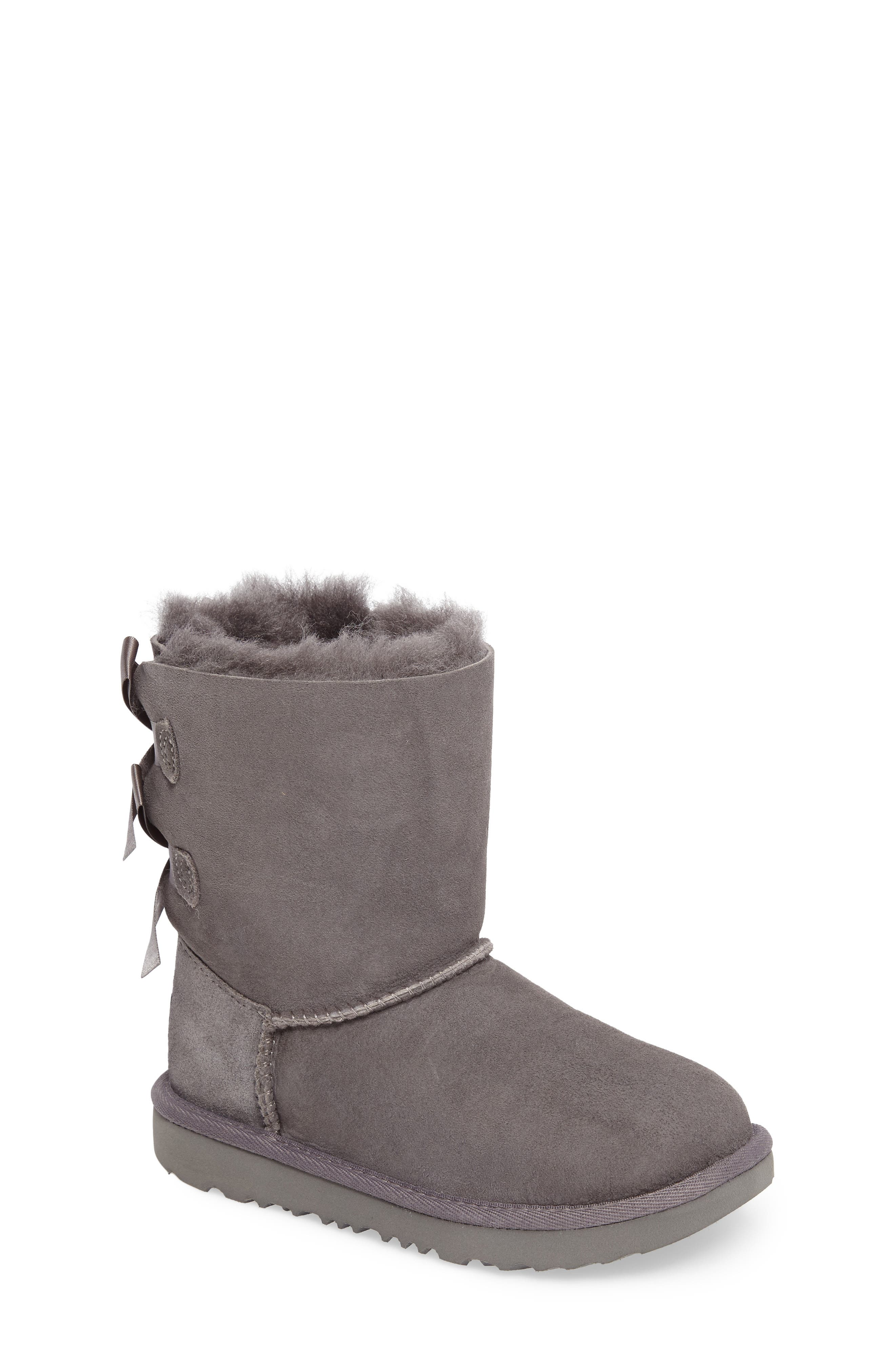UGG® Bailey Bow II Water Resistant Genuine Shearling Boot (Walker, Toddler, Little Kid & Big Kid)
