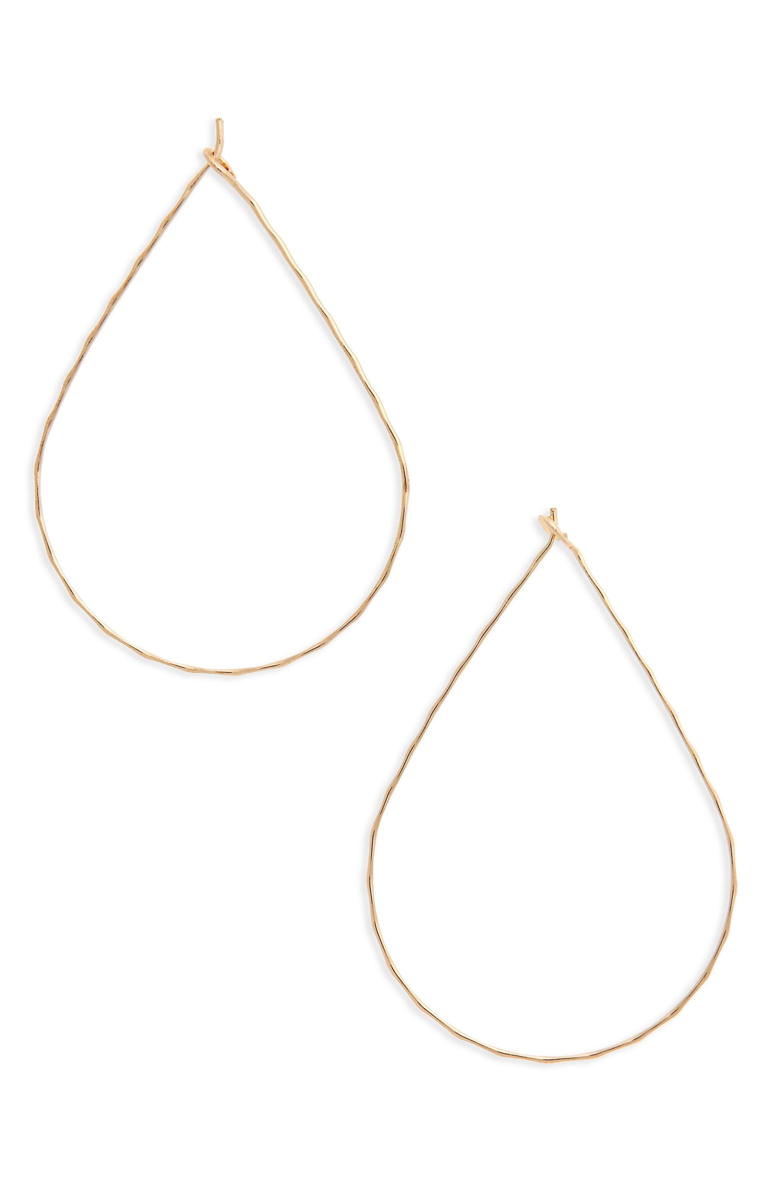 BP. Teardrop Hoop Earrings