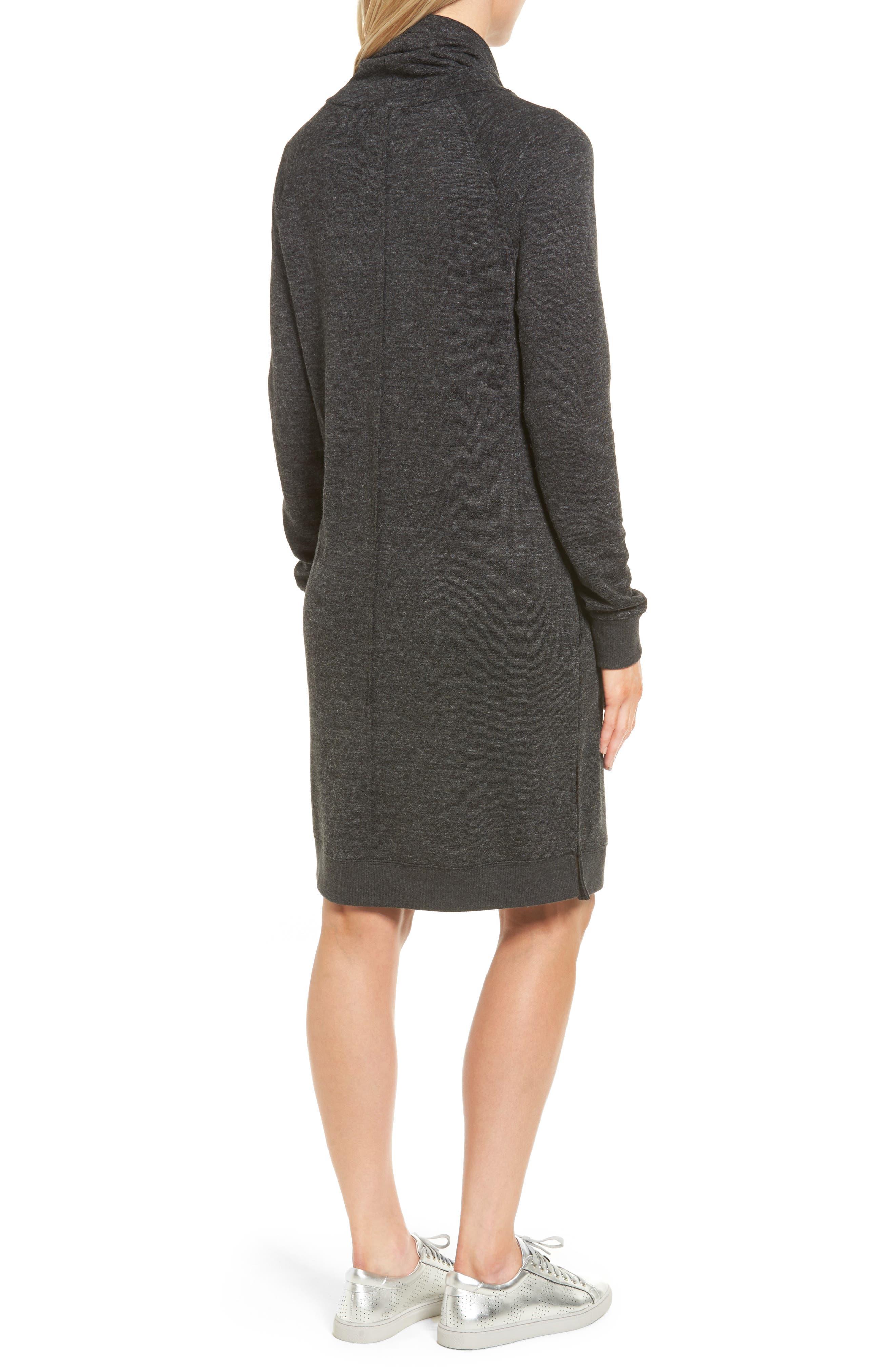 Alternate Image 2  - Caslon® Sweatshirt Dress (Regular & Petite)