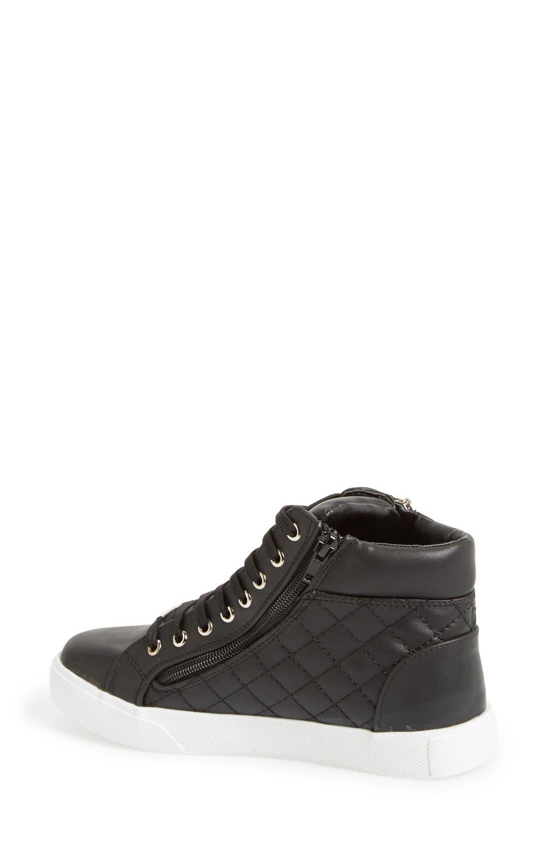 Alternate Image 2  - Steve Madden 'Decaf' Quilted High Top Sneaker (Women)