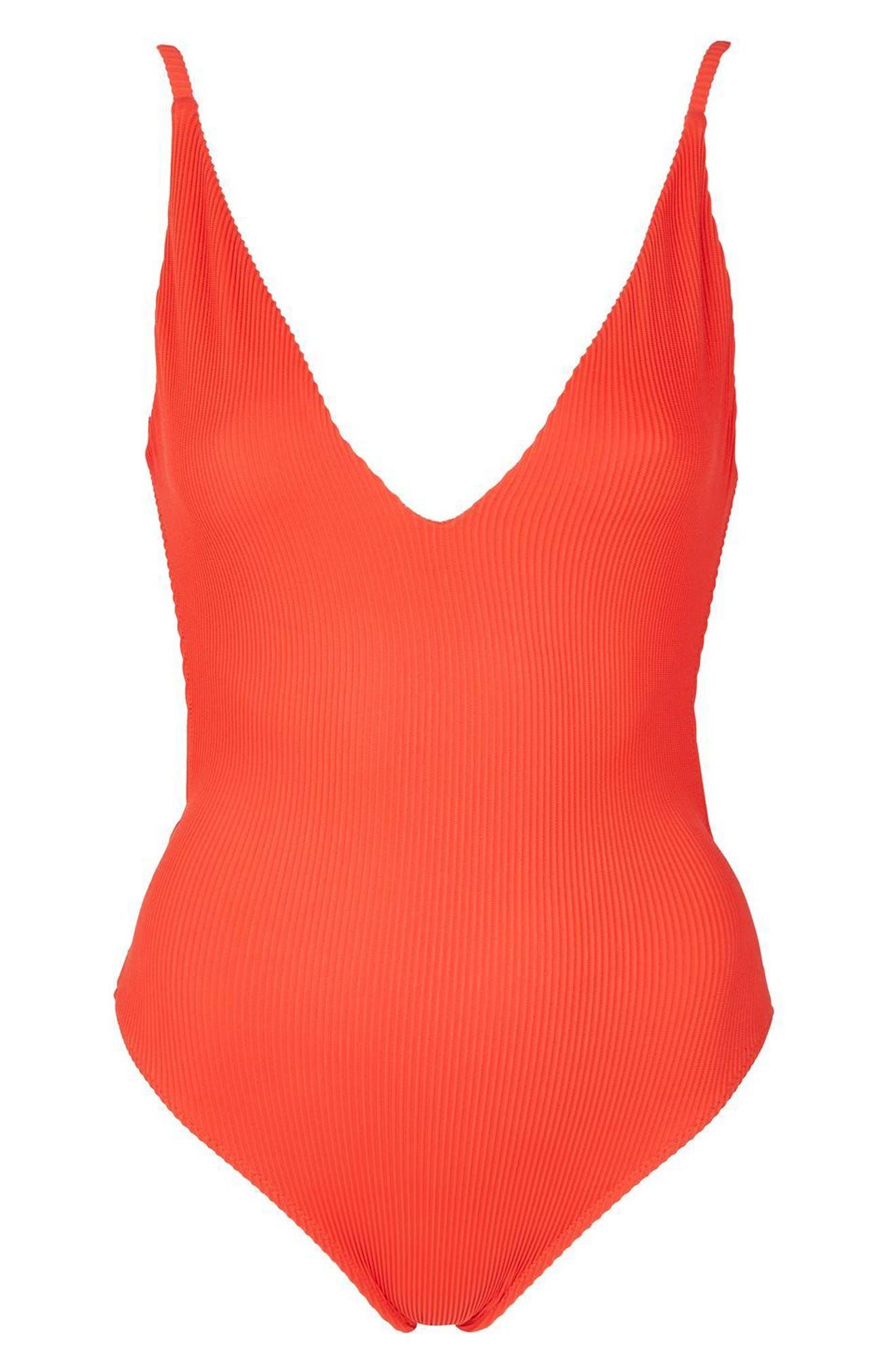 Alternate Image 3  - Topshop Plunge One-Piece Swimsuit