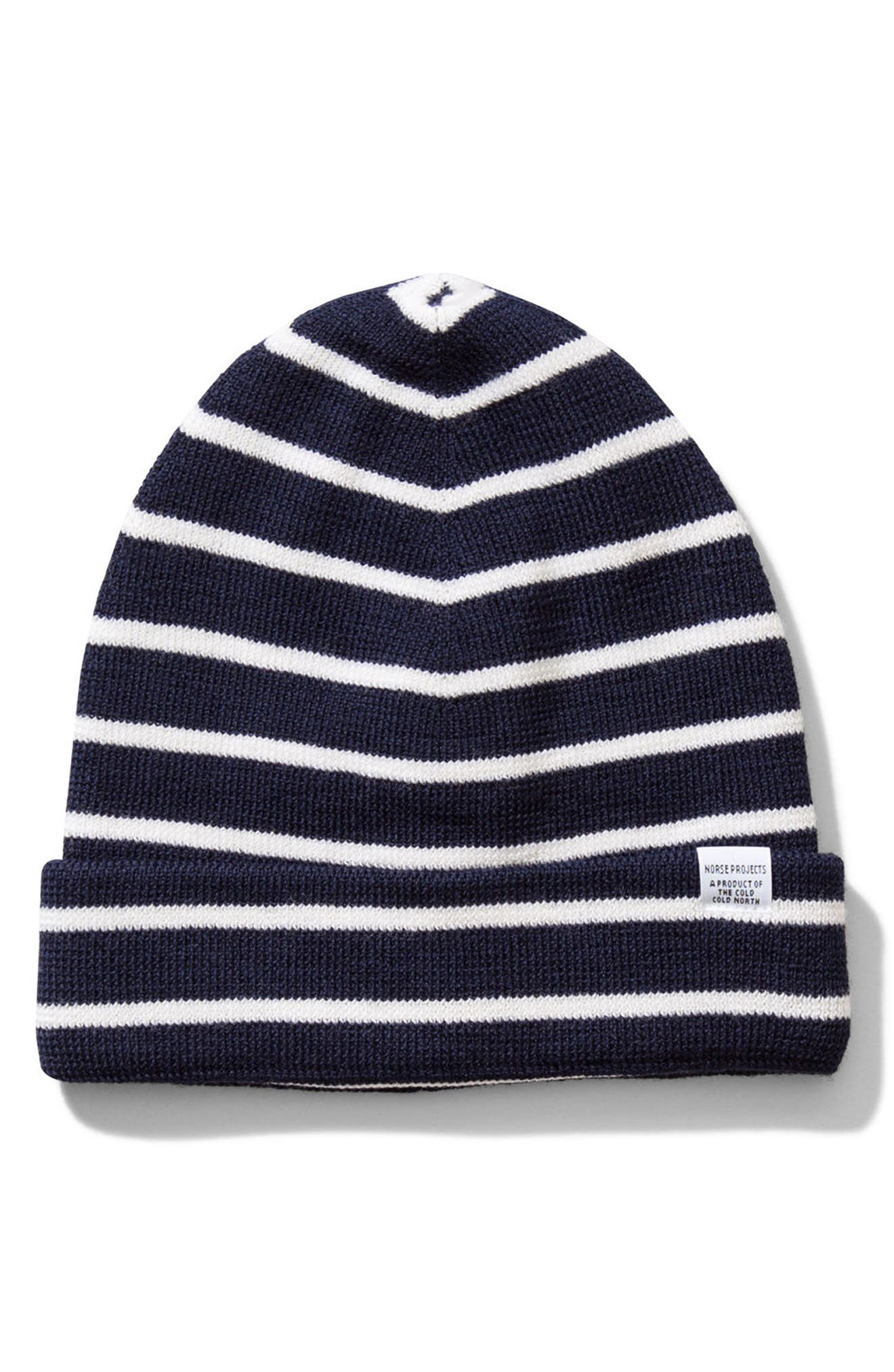 Norse Projects Normandie Stripe Wool Knit Cap