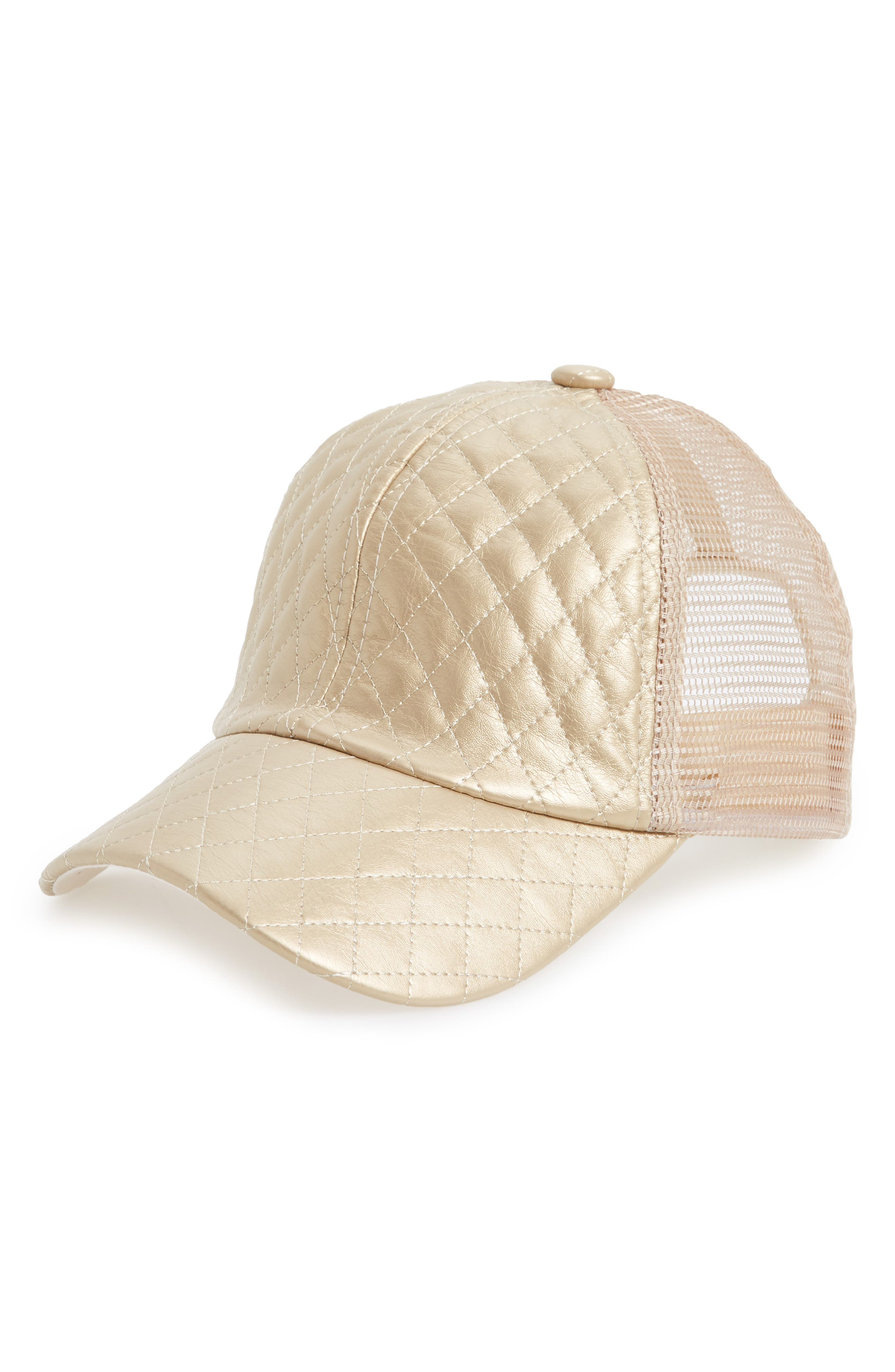 BP. Metallic Quilted Baseball Cap