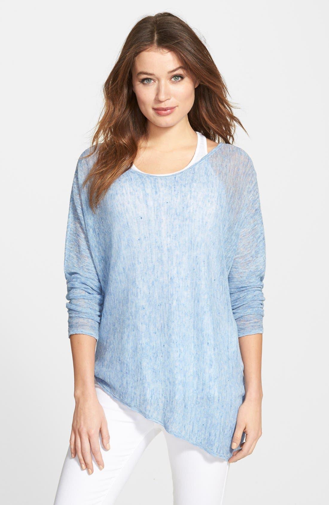 Alternate Image 1 Selected - Eileen Fisher Linen Asymmetrical Top (Regular & Petite) (Online Only)