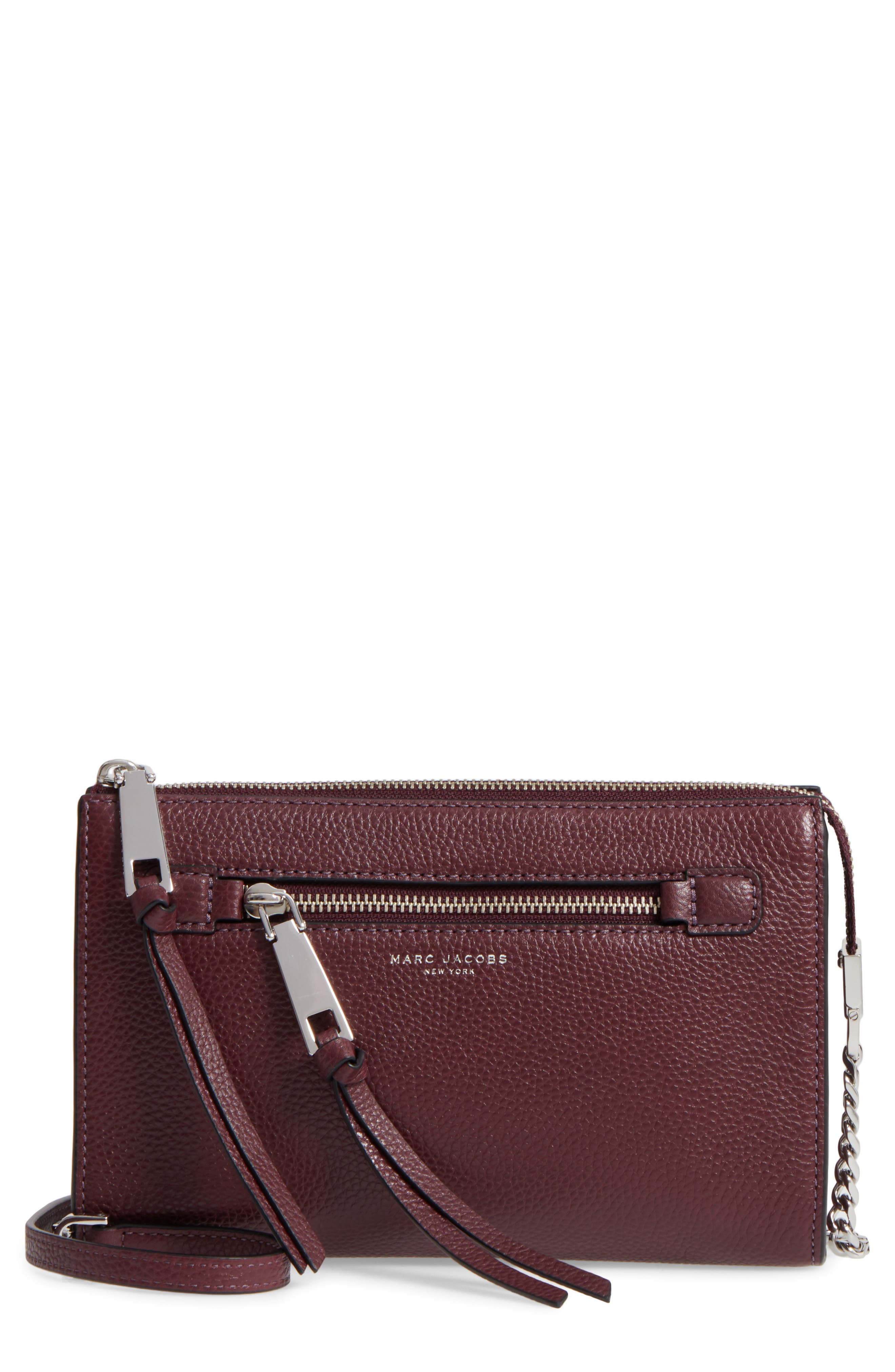 MARC JACOBS Small Recruit Leather Crossbody Bag