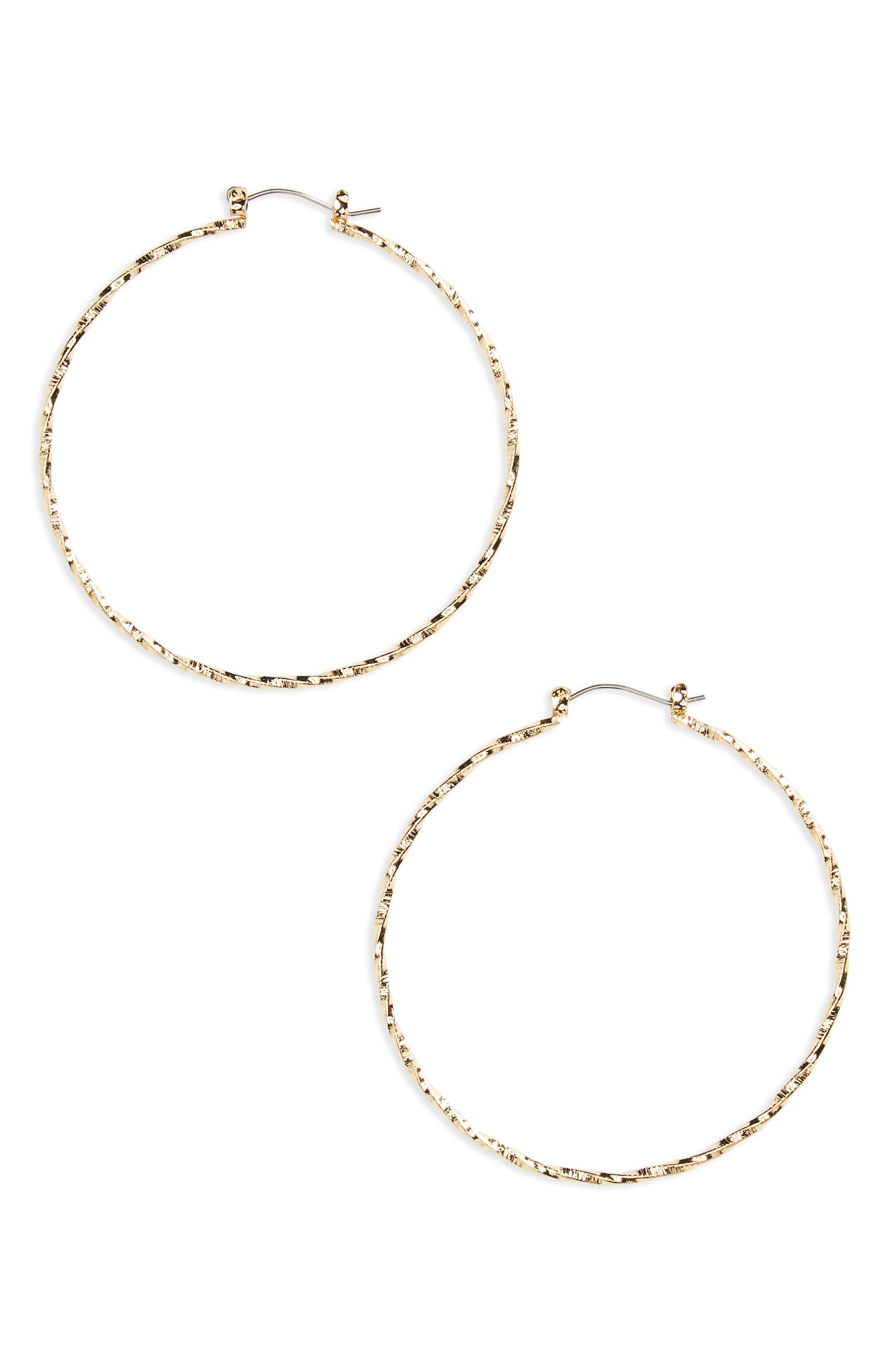 BP. Twisted Hoop Earrings