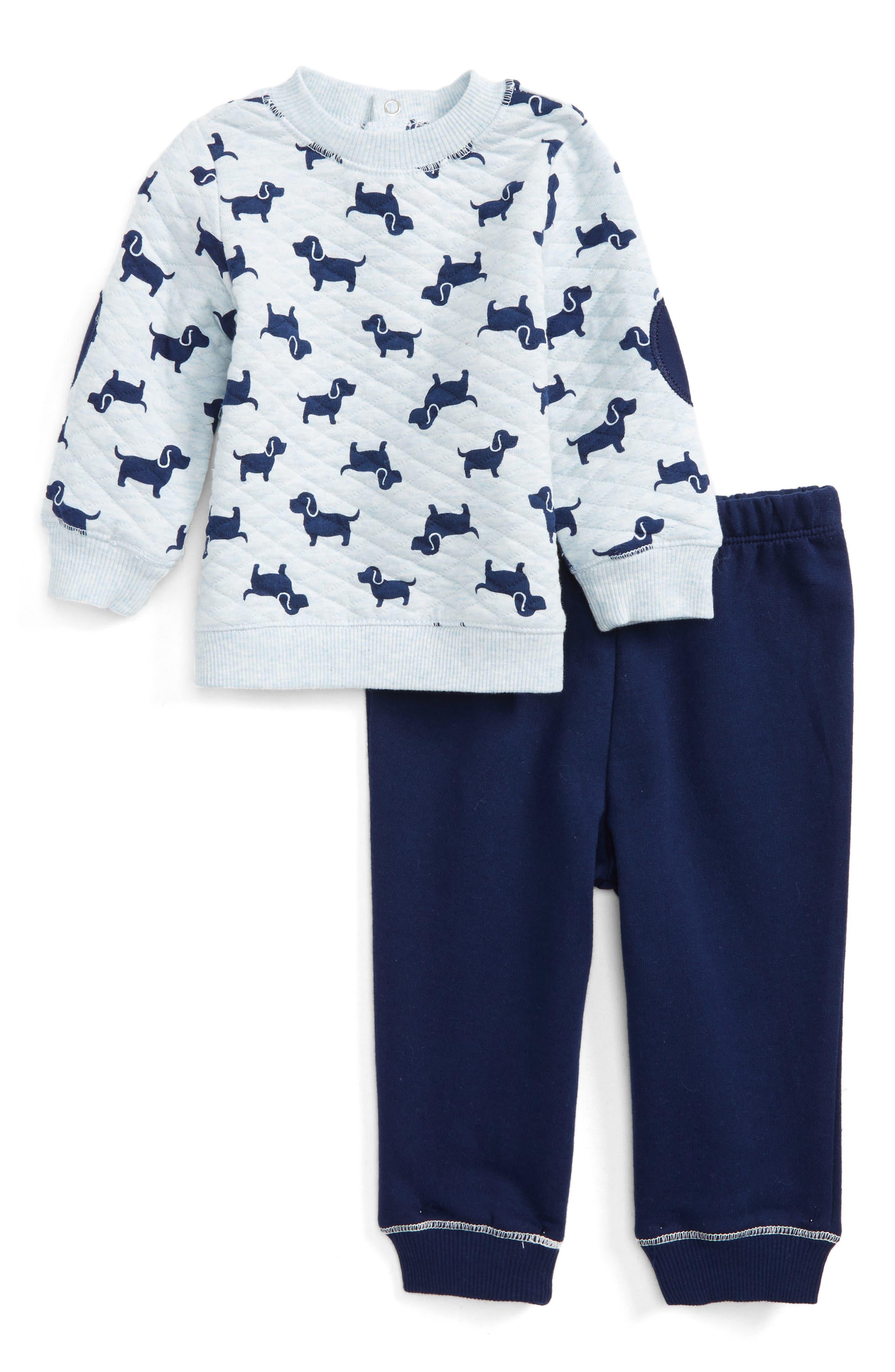 Little Me Puppies Sweatshirt & Sweatpants Set (Baby Boys)