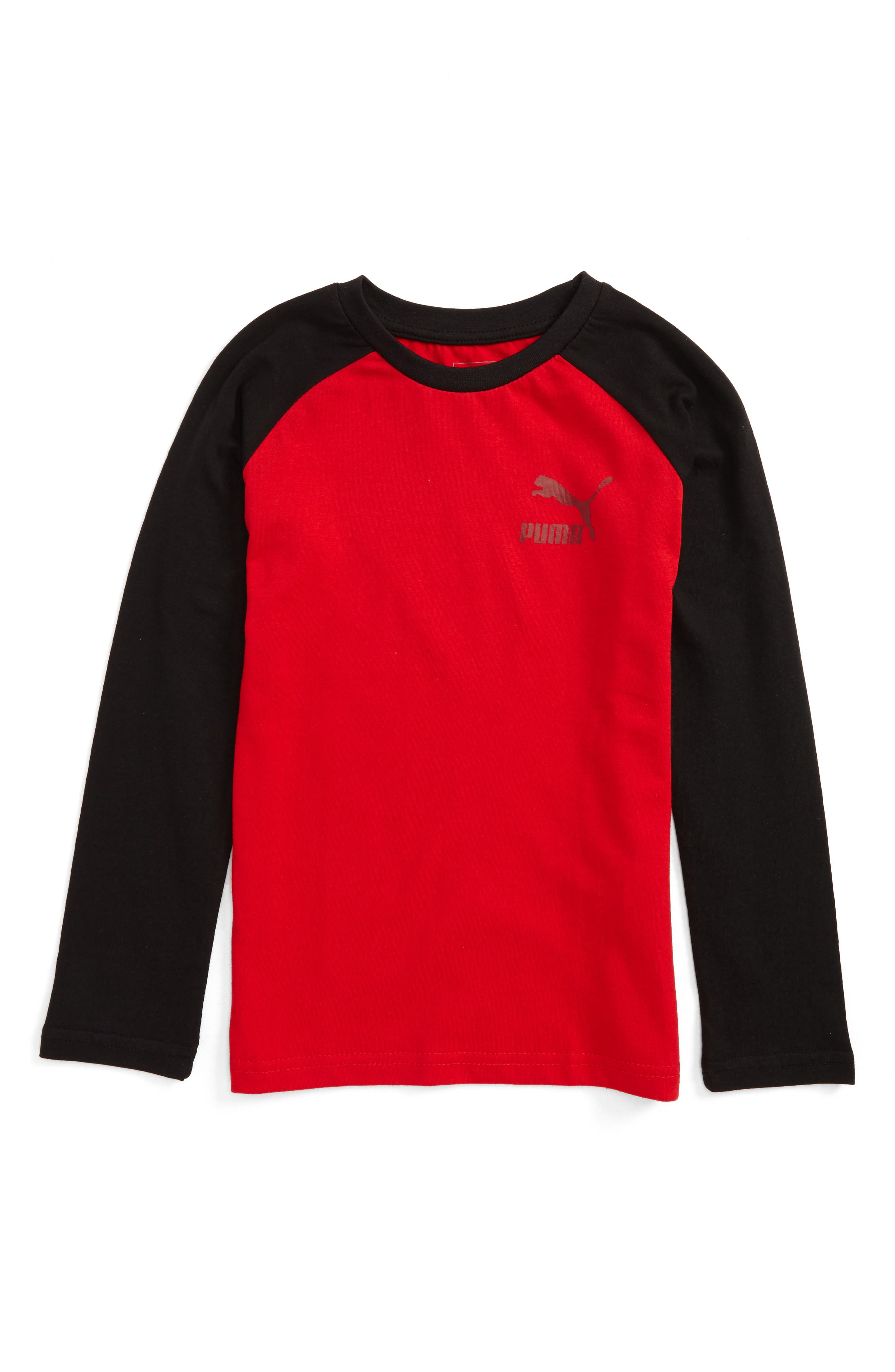 PUMA Logo Raglan Sleeve T-Shirt (Little Boys)