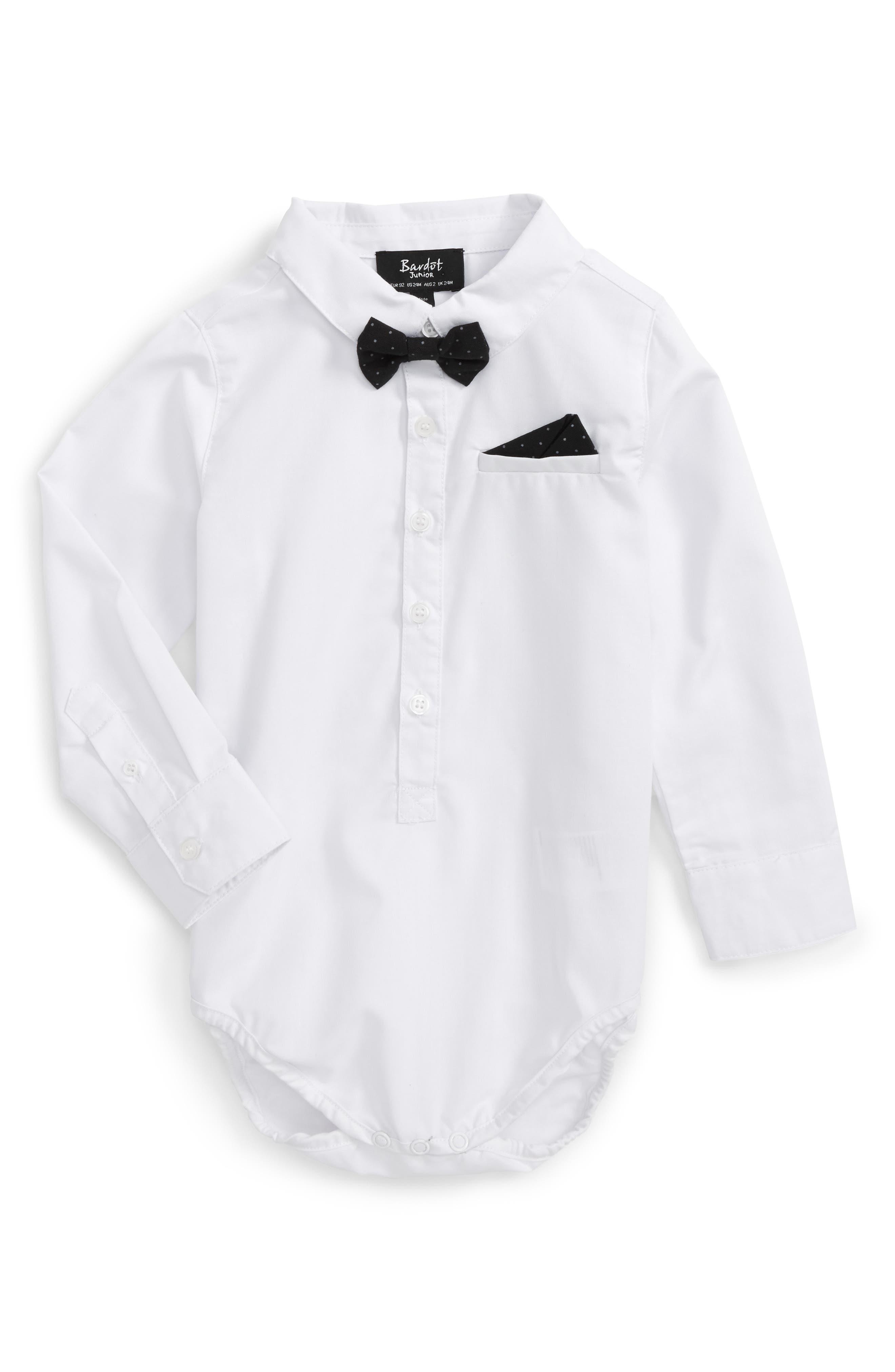 Bardot Junior Dapper Dress Shirt Bodysuit (Baby Boys & Toddler Boys)