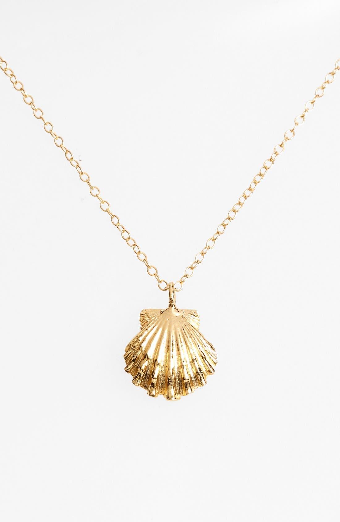 Alternate Image 1 Selected - ki-ele 'Golden Sunrise' Shell Pendant Necklace