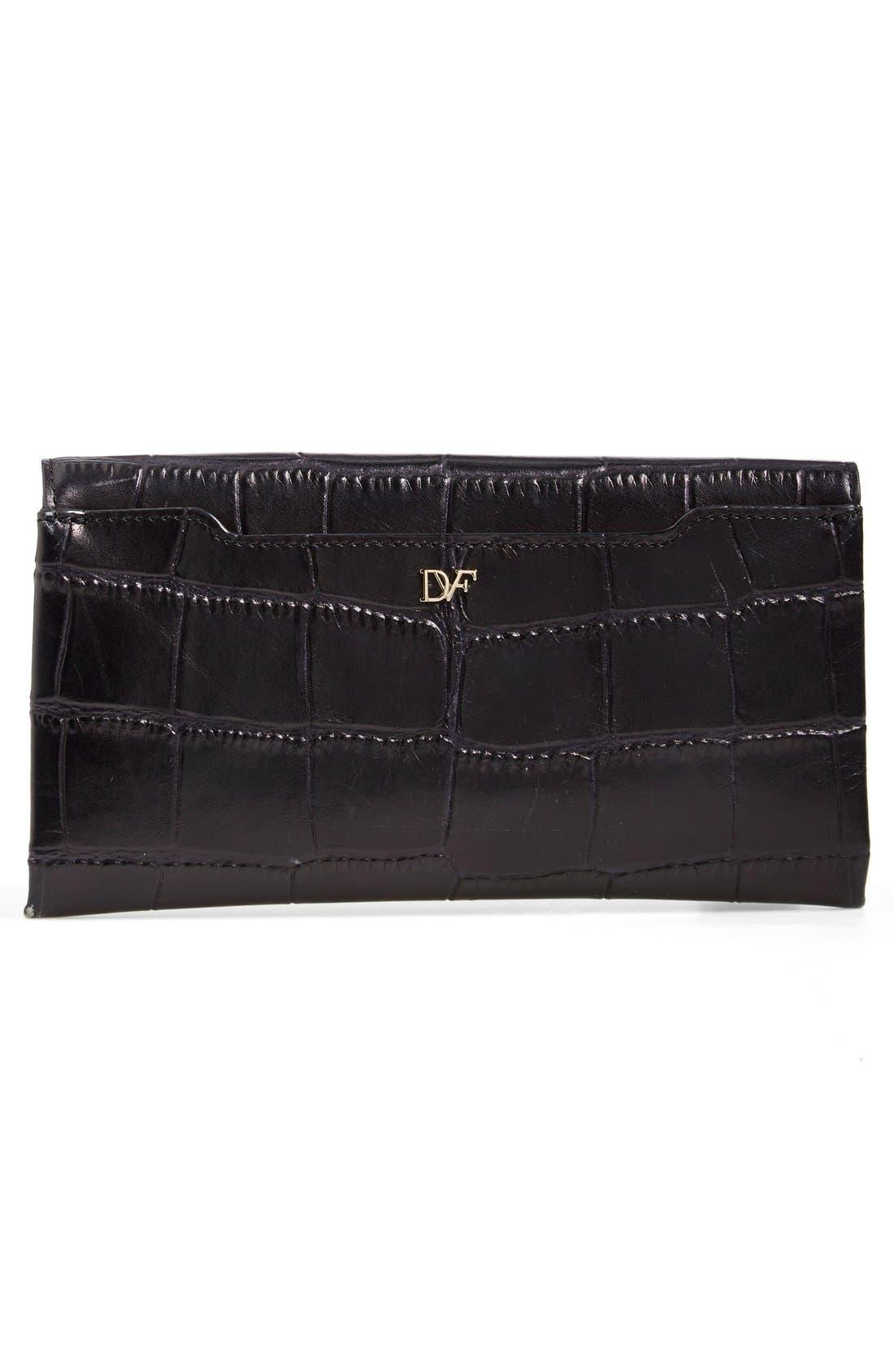 Alternate Image 3  - Diane von Furstenberg '440' Croc-Embossed Leather Envelope Clutch