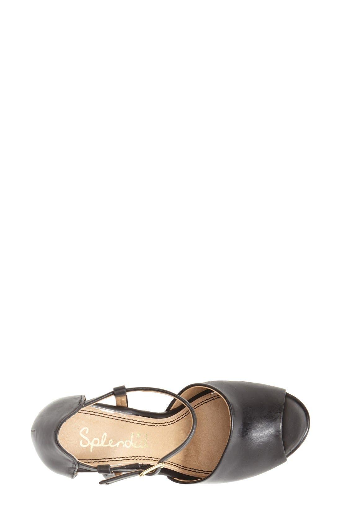 Alternate Image 3  - Splendid 'Davie' Leather Ankle Strap Wedge Sandal (Women)