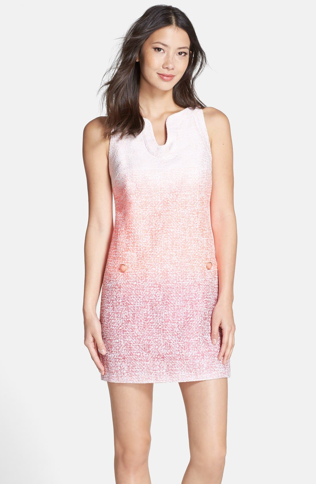 Alternate Image 1 Selected - Cynthia Steffe 'Bailey' Ombré Woven Shift Dress